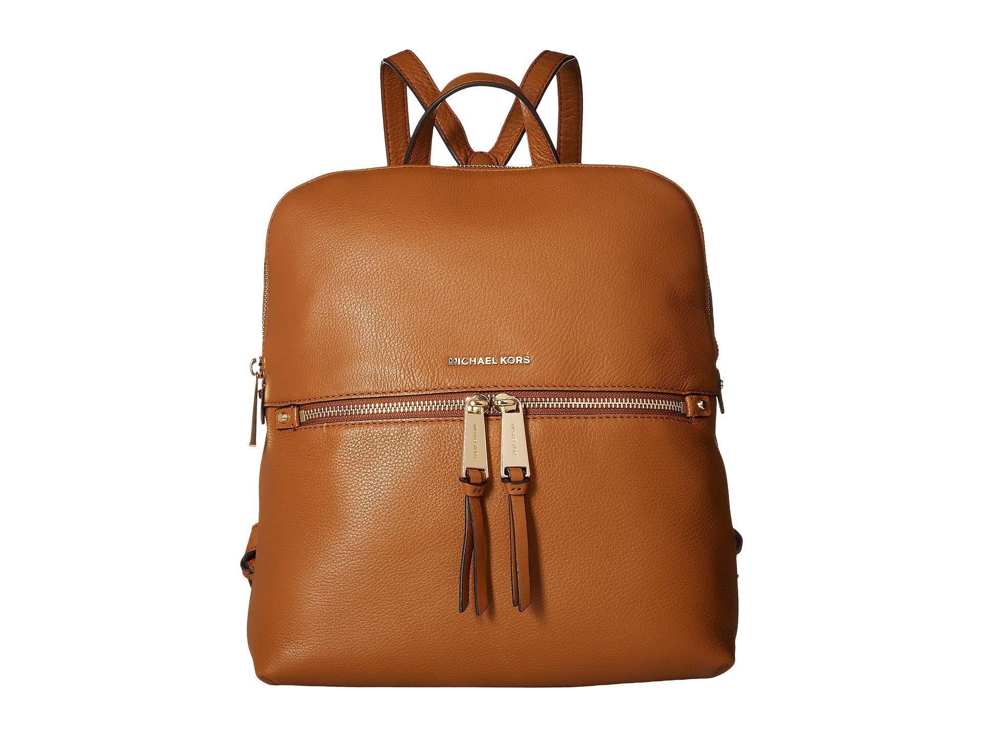 985d59cc31604 MICHAEL Michael Kors. Women s Brown Rhea Zip Medium Slim Backpack ...