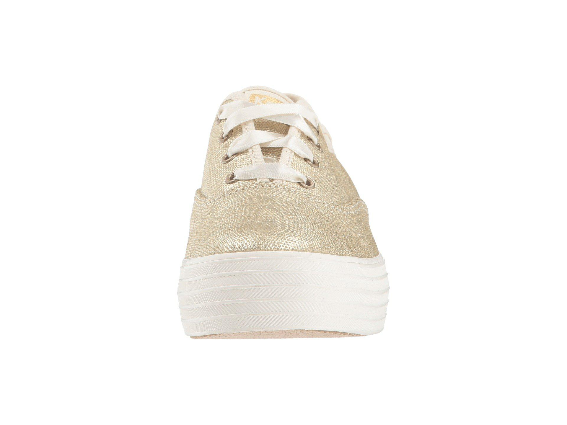 287433f49204 Lyst - Keds Triple Matte Brushed Metallic (platinum) Women s Lace Up ...