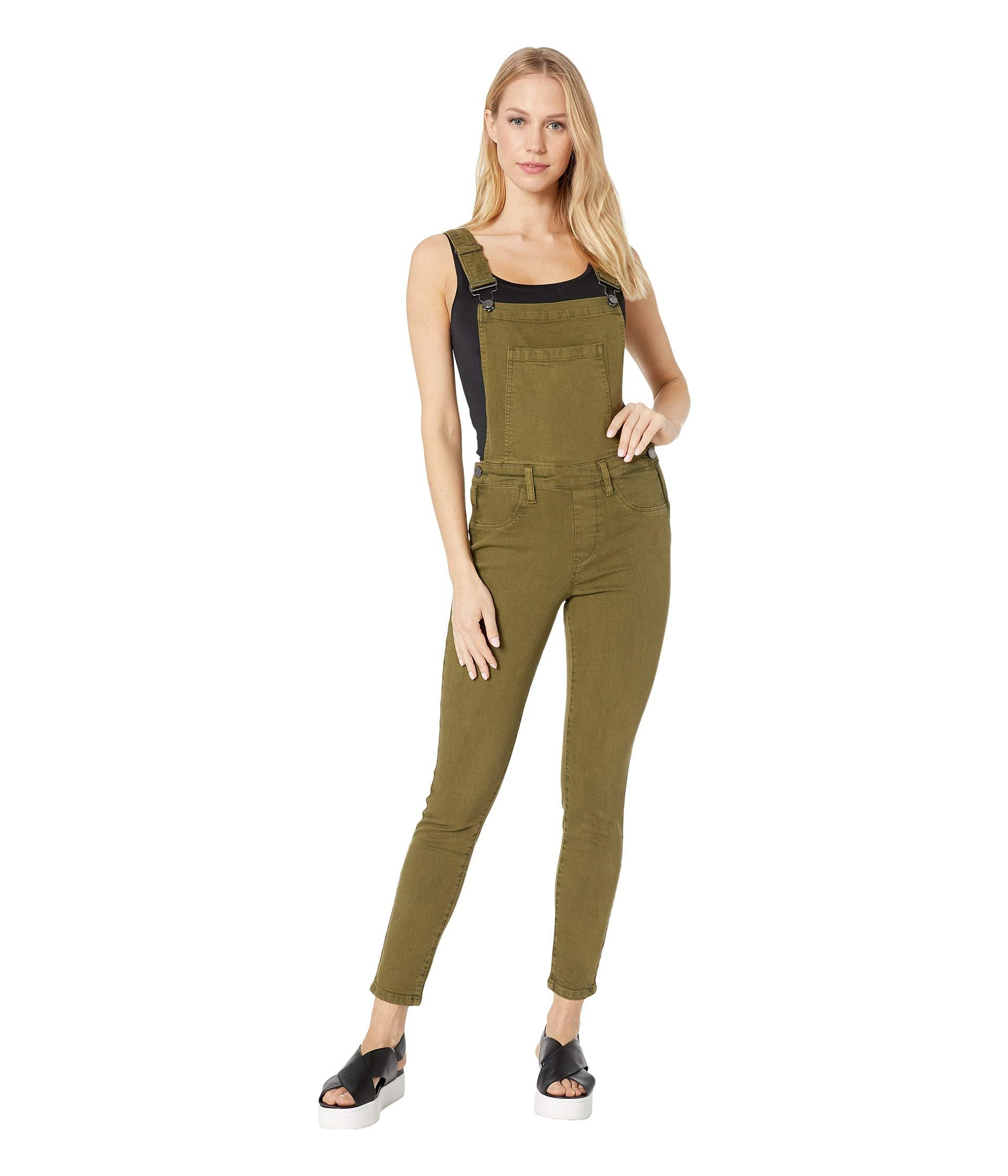30eda49e61 Green Olive Skinny Overalls In Apple Jack (apple Jack) Women's Jumpsuit &  Rompers One Piece