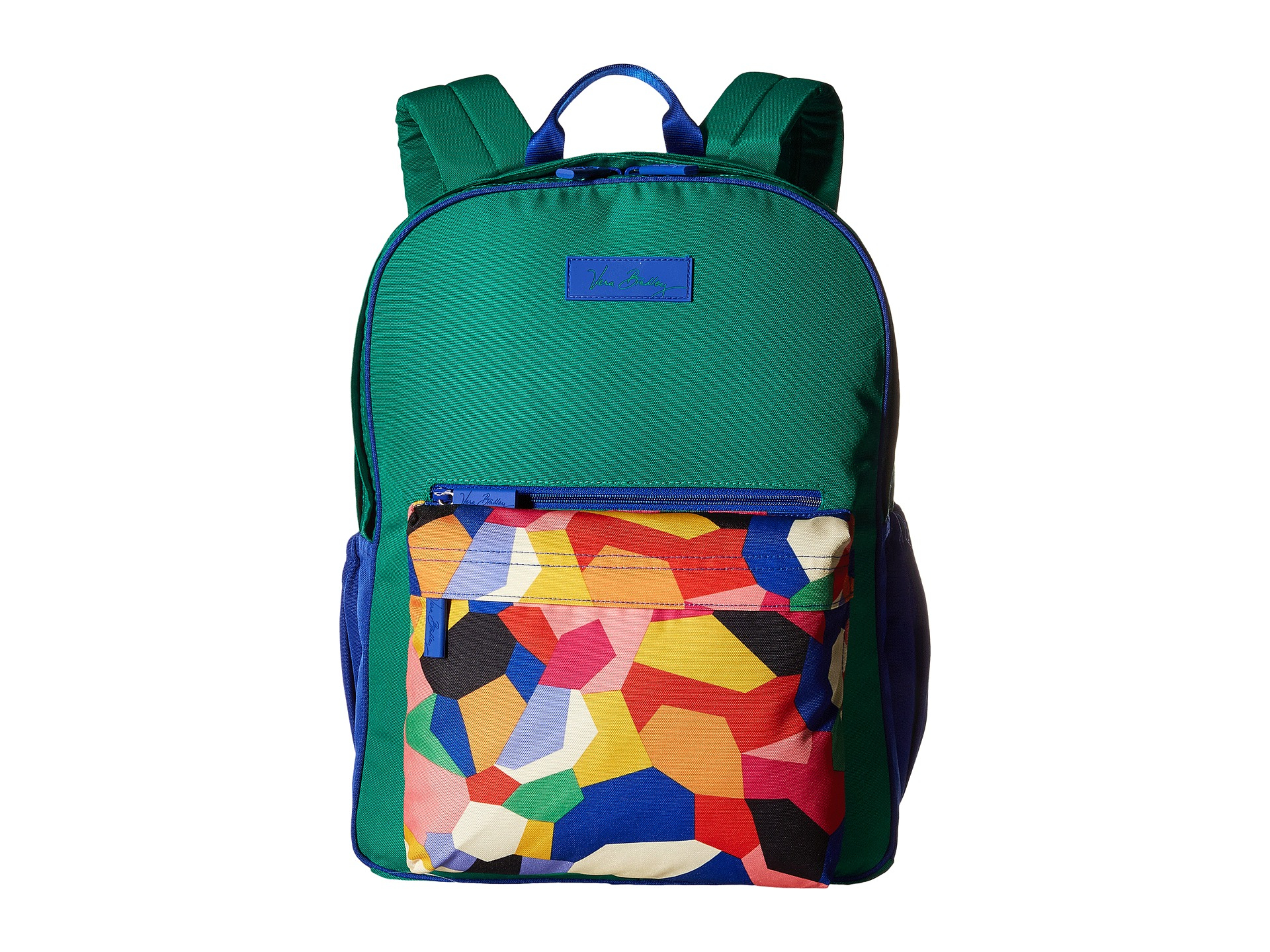 b06e646161c9 Lyst - Vera Bradley Large Color Block Backpack in Green