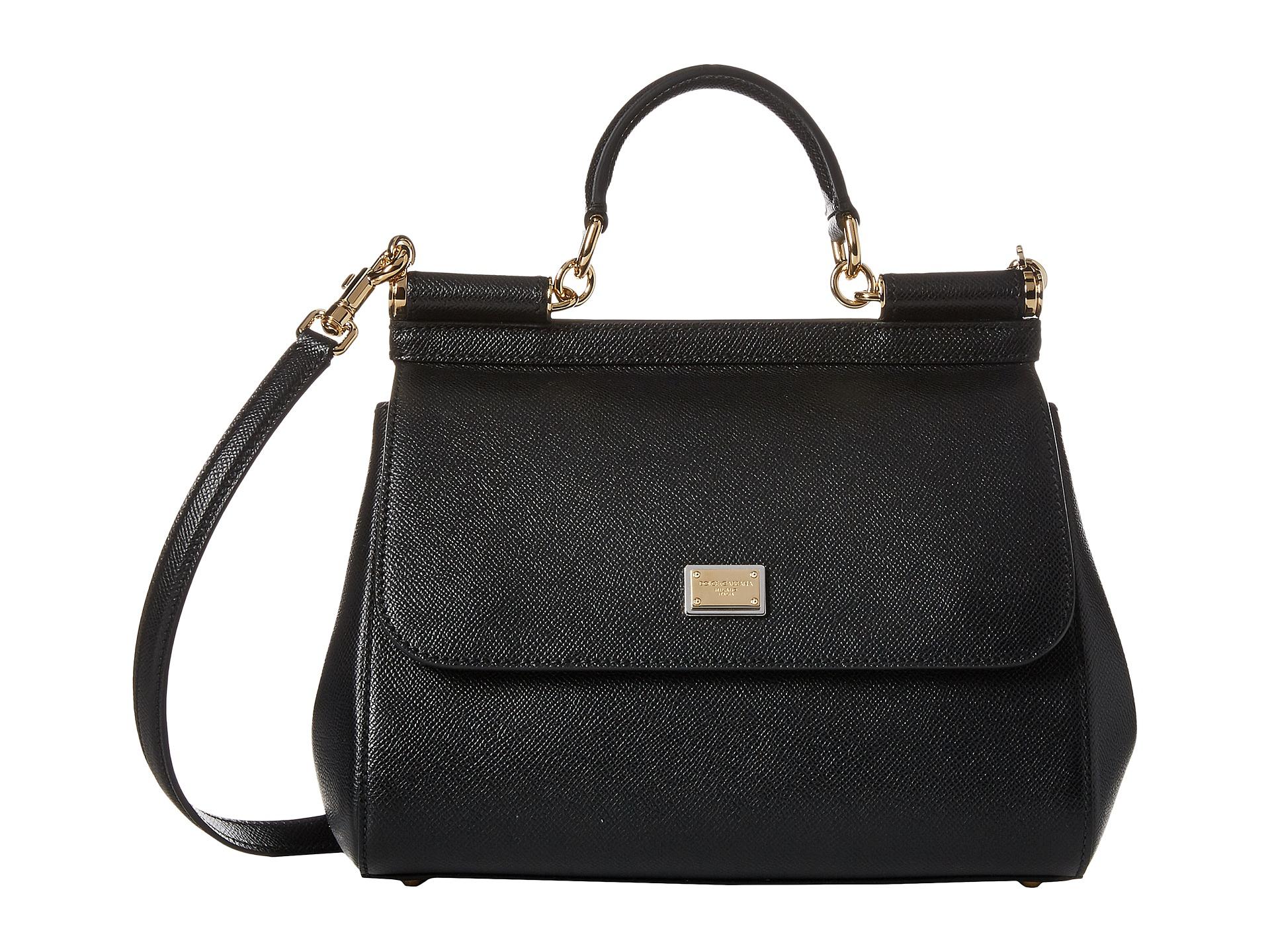 Lyst - Dolce   Gabbana Borsa A Mano Vitello Stampa Dauphine in Black e98c37aa54d36