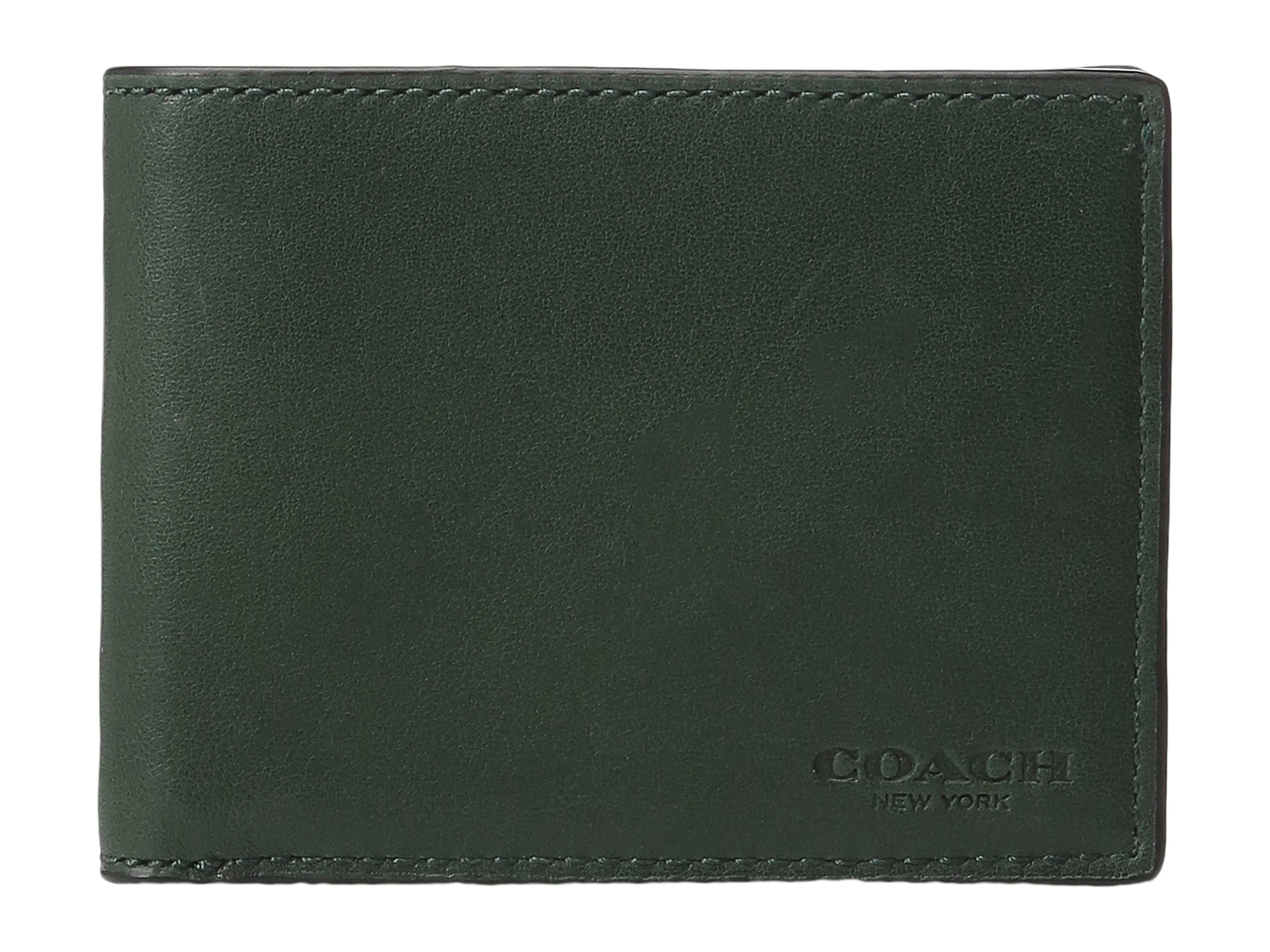 088bbb09 COACH Green Sport Calf Slim Billfold Id Wallet for men