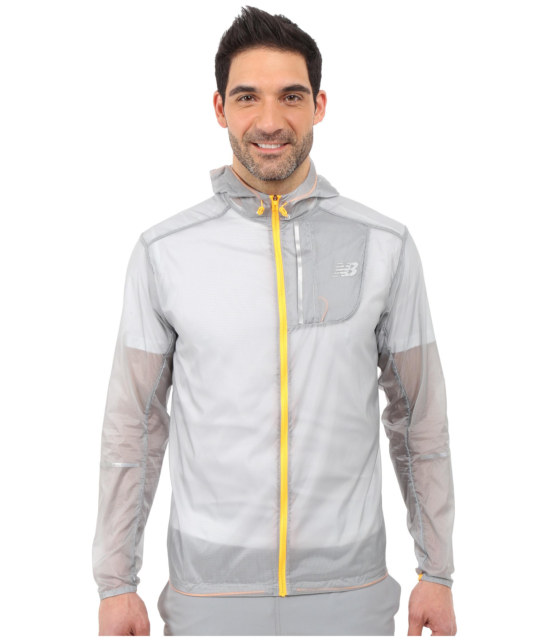 new balance lite packable jacket in gray for men lyst. Black Bedroom Furniture Sets. Home Design Ideas