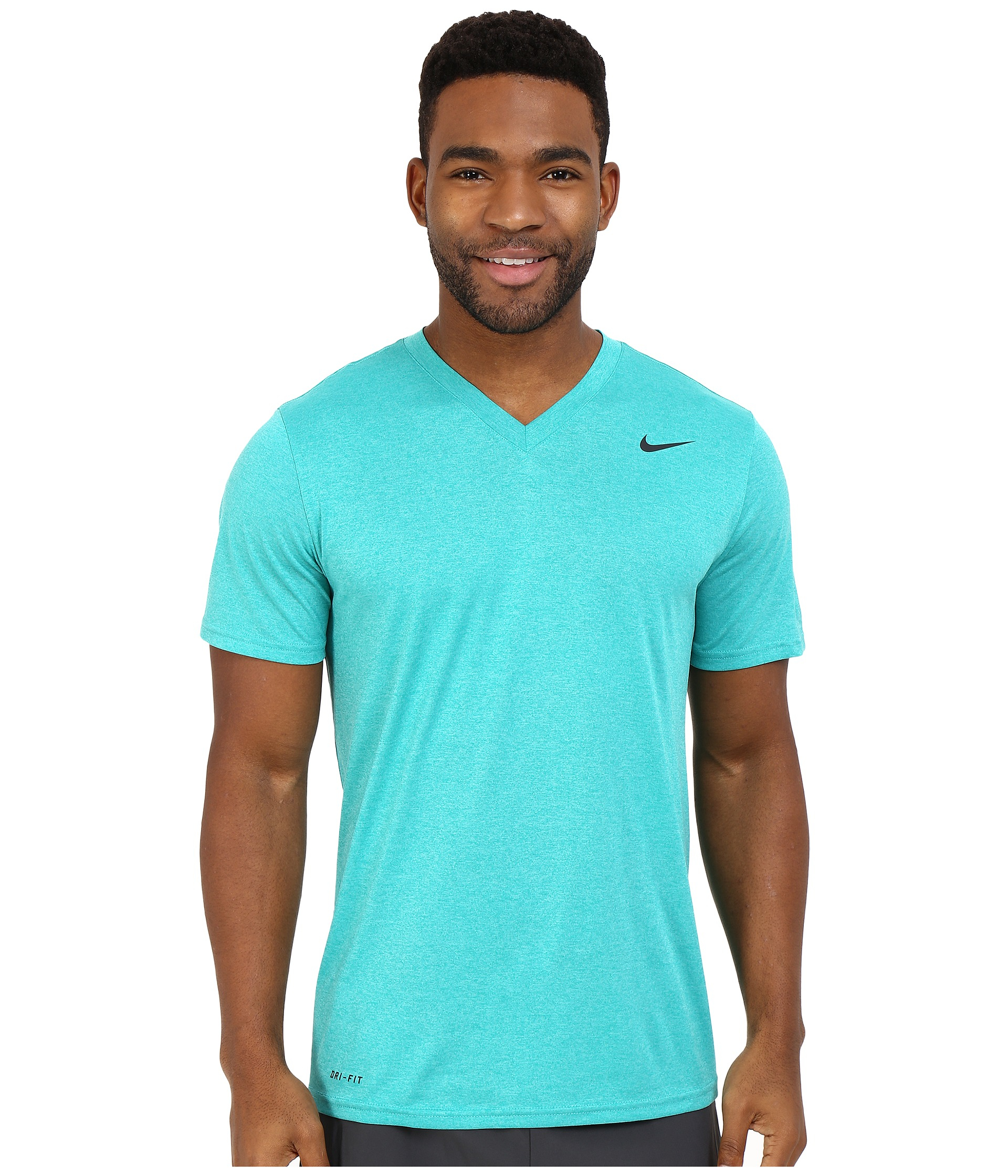 c1ab6af3 Nike Legend 2.0 Short Sleeve V-neck Tee in Blue for Men - Lyst