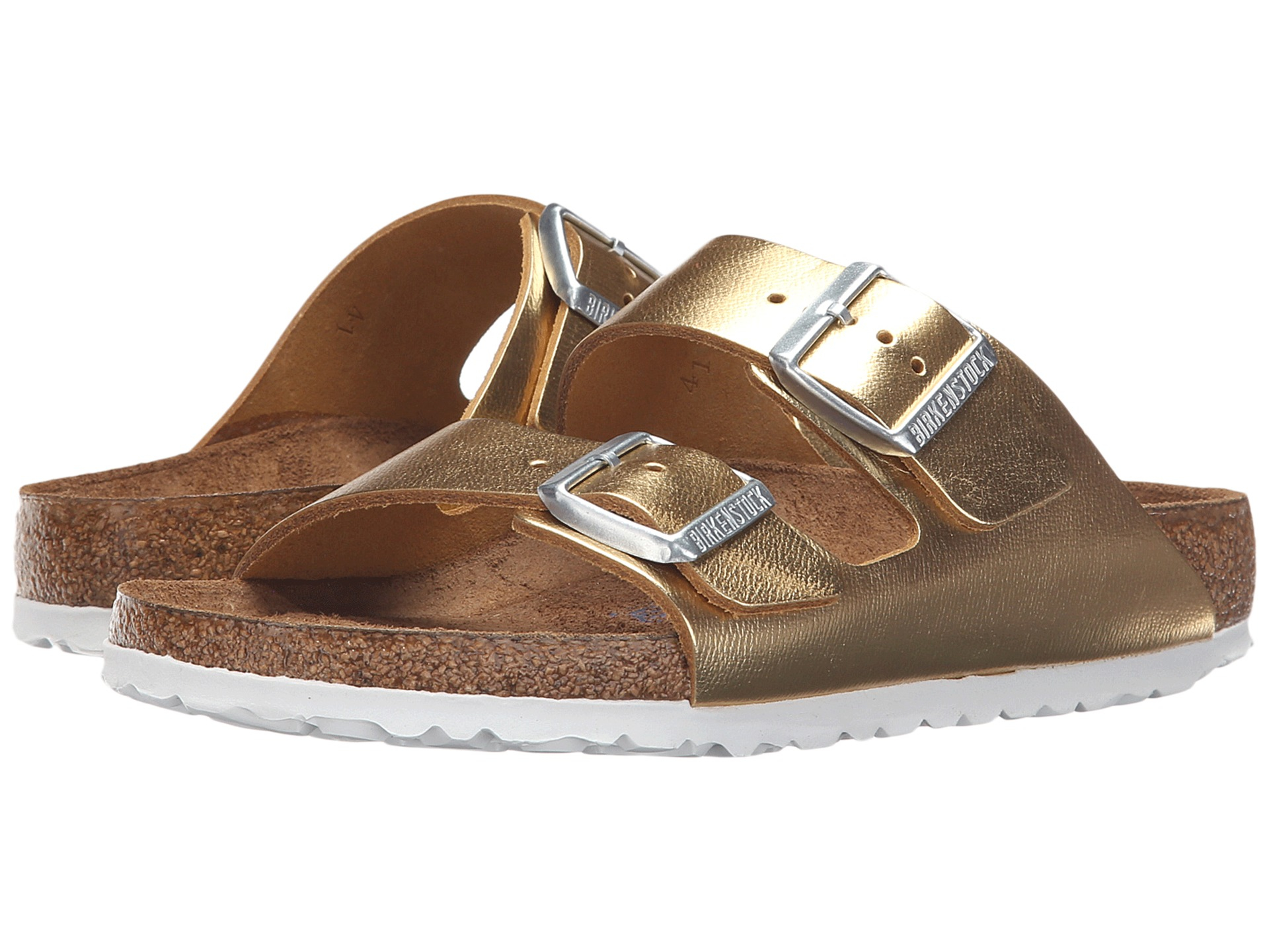 Birkenstock Arizona Soft Footbed In Metallic Lyst