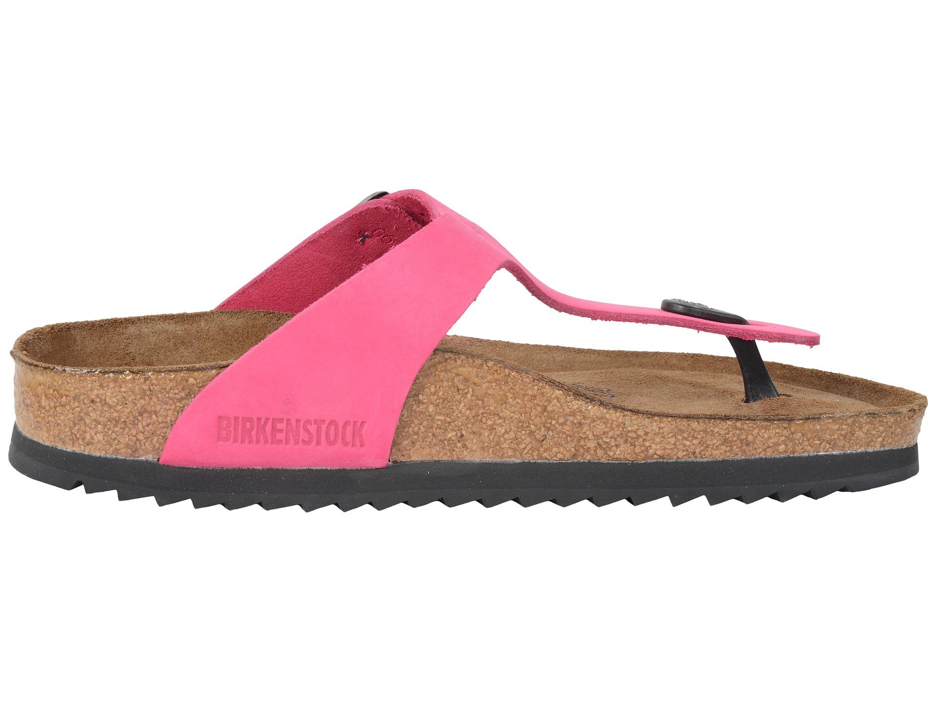 birkenstock gizeh soft footbed in pink lyst. Black Bedroom Furniture Sets. Home Design Ideas