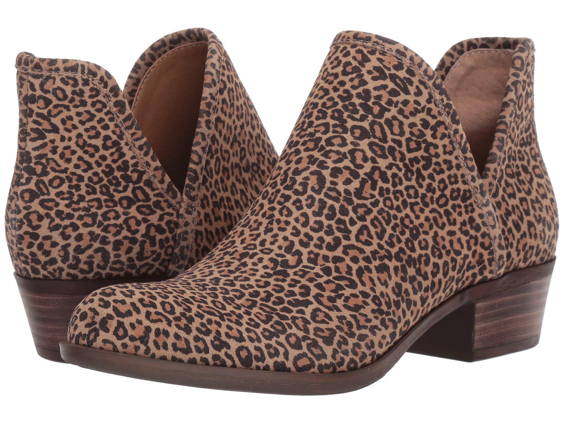 lucky brand leopard print booties