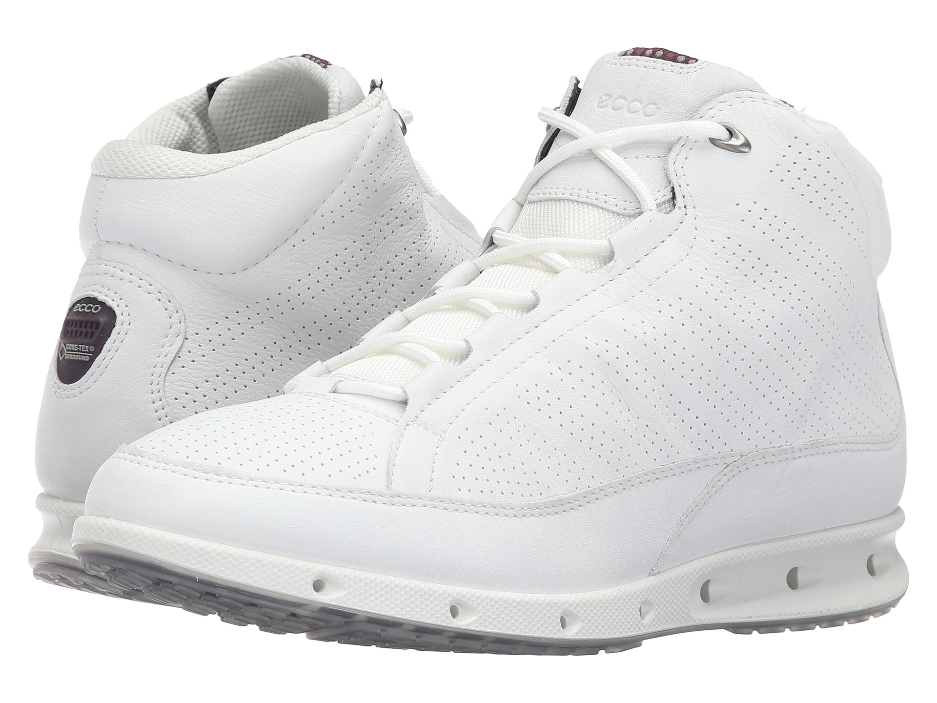 Ecco Cool Gtx High Top In White For Men