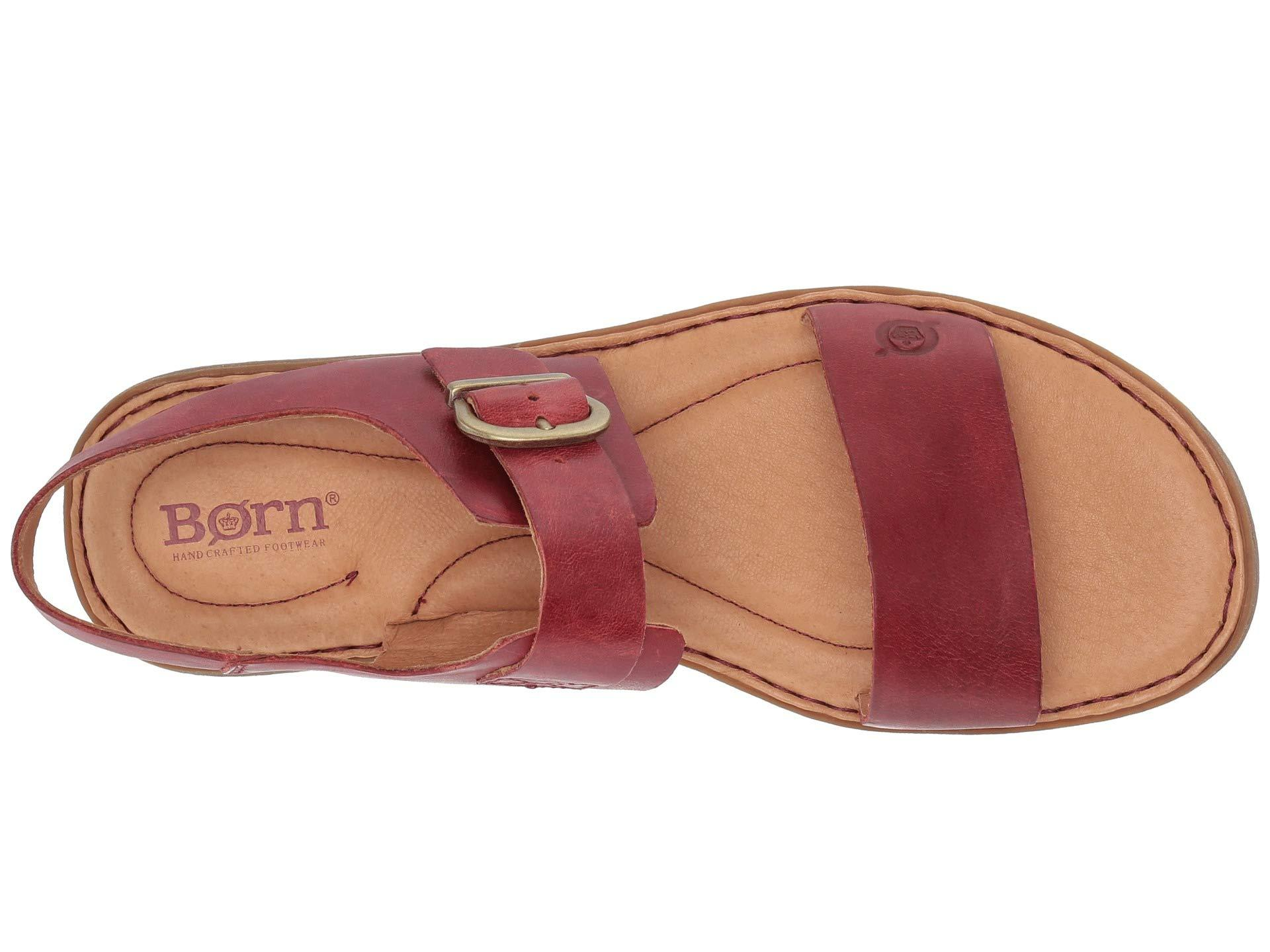 333c292ac2f Lyst - Born Selway (black Full Grain Leather) Women s Sandals in Red