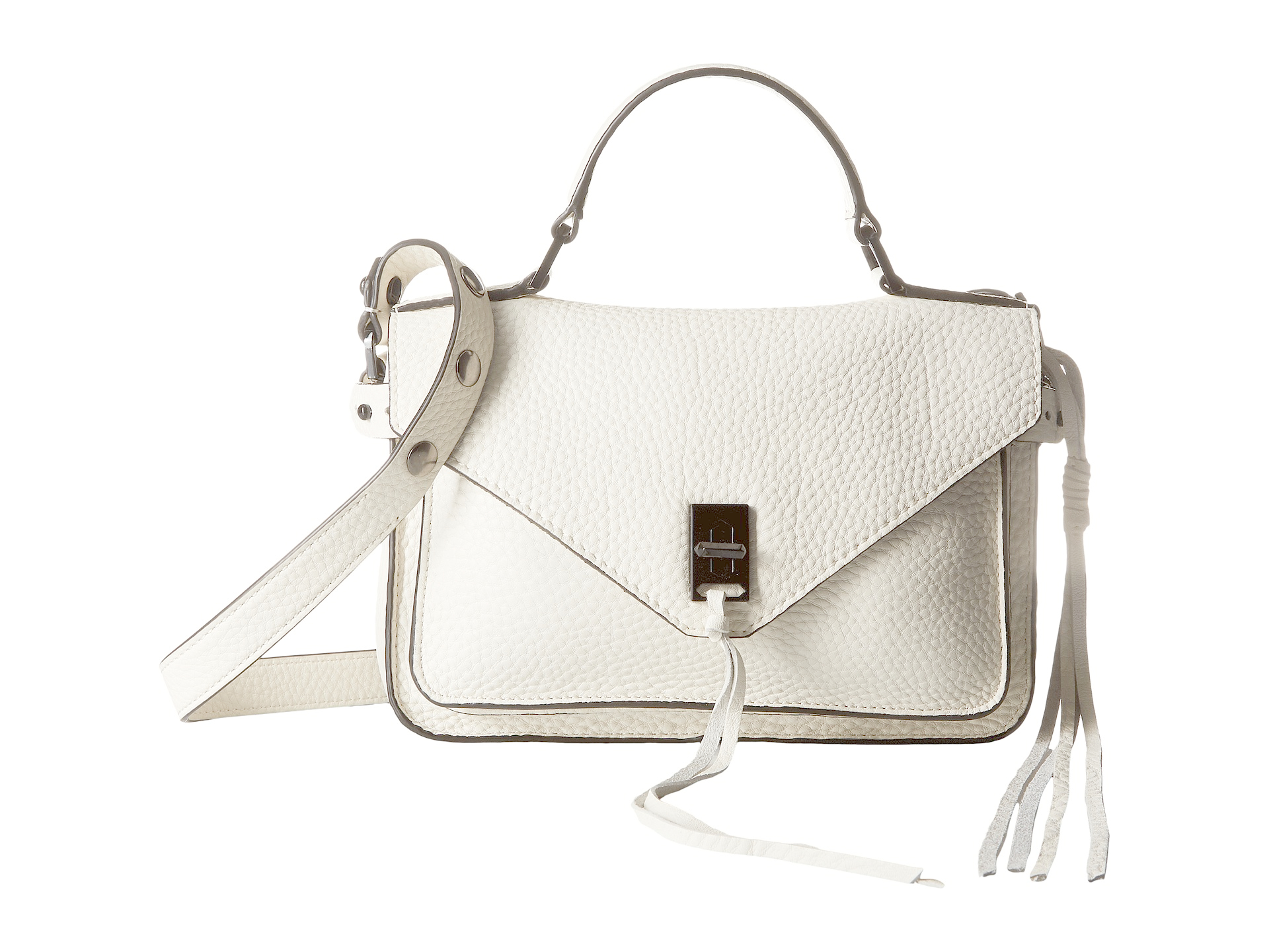 86e59ff438 Lyst - Rebecca Minkoff Small Darren Messenger in White