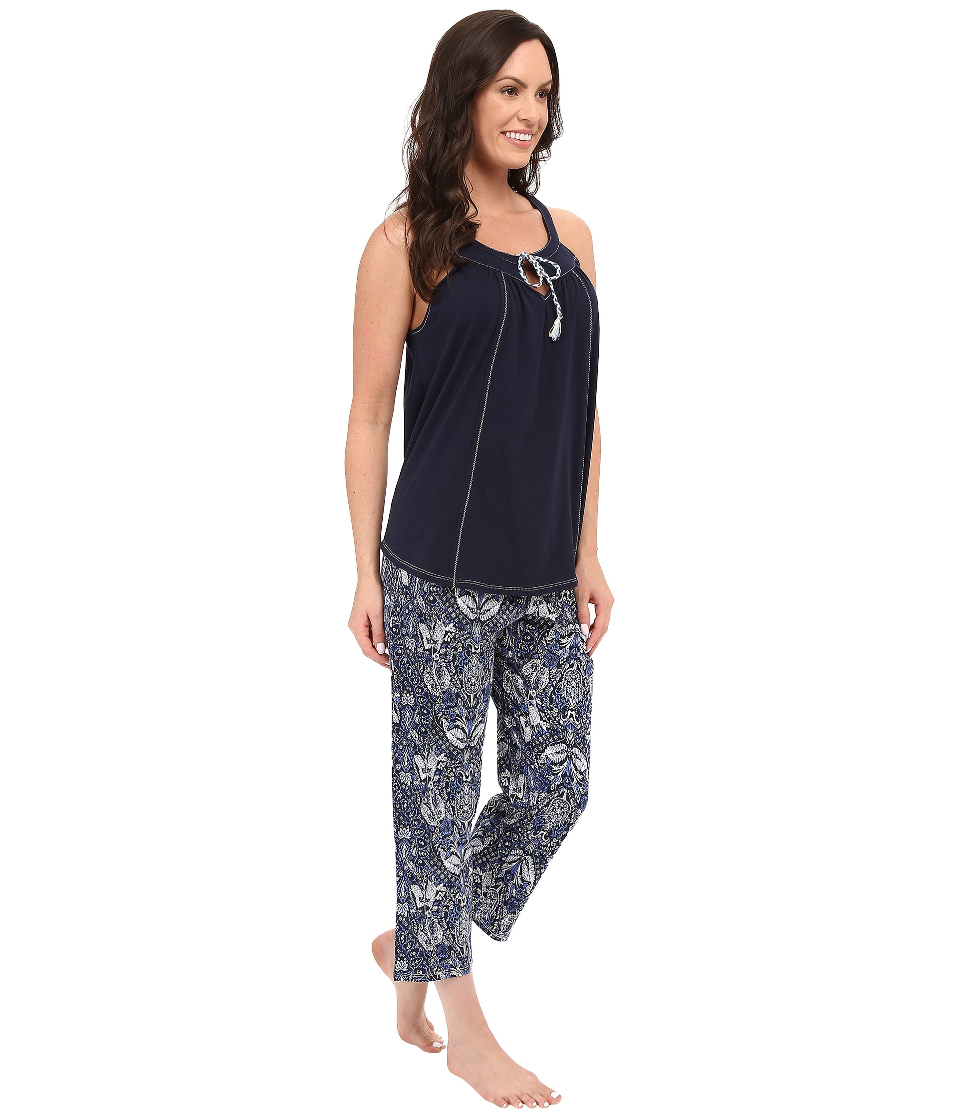 Lucky Brand Tank Pajama In Blue Lyst