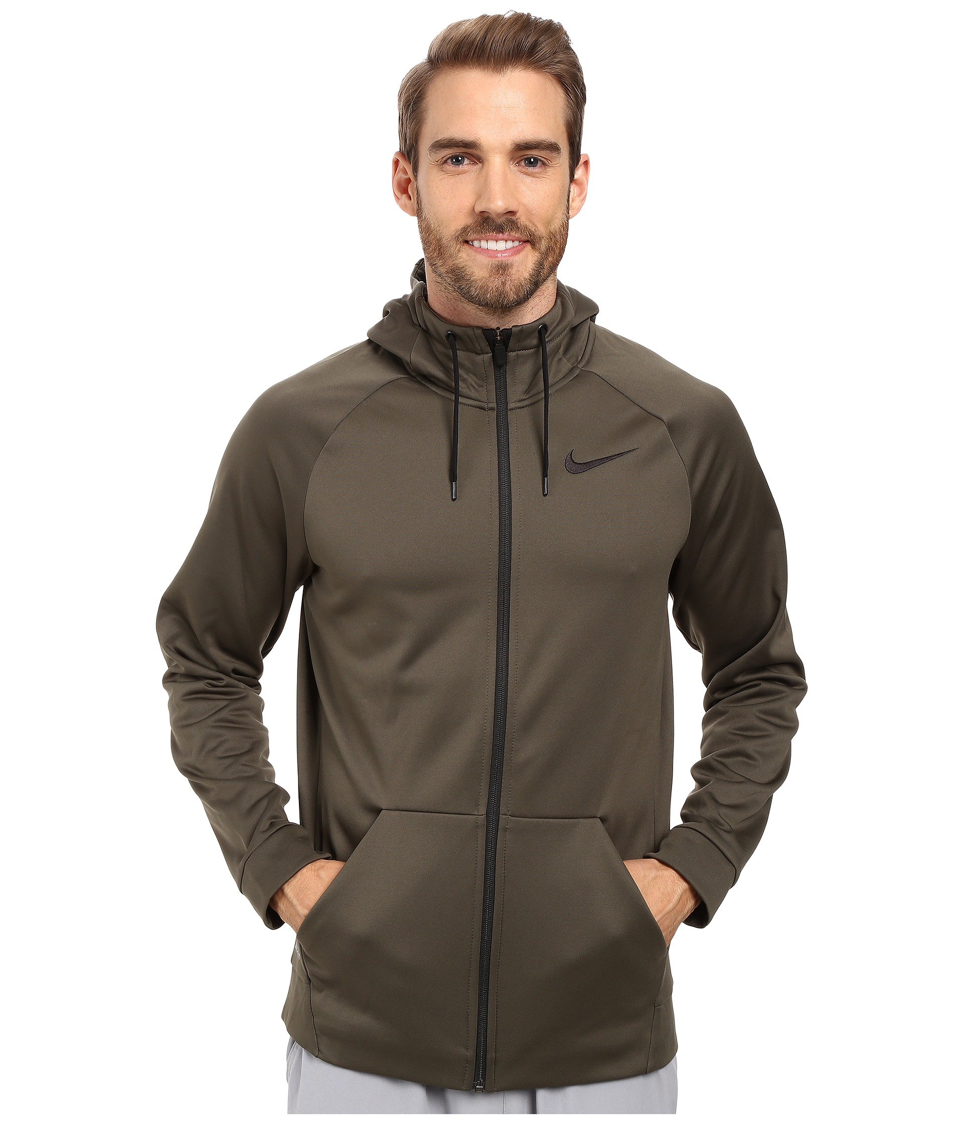 ecc5de915 Nike Therma Full-zip Training Hoodie in Natural for Men - Lyst