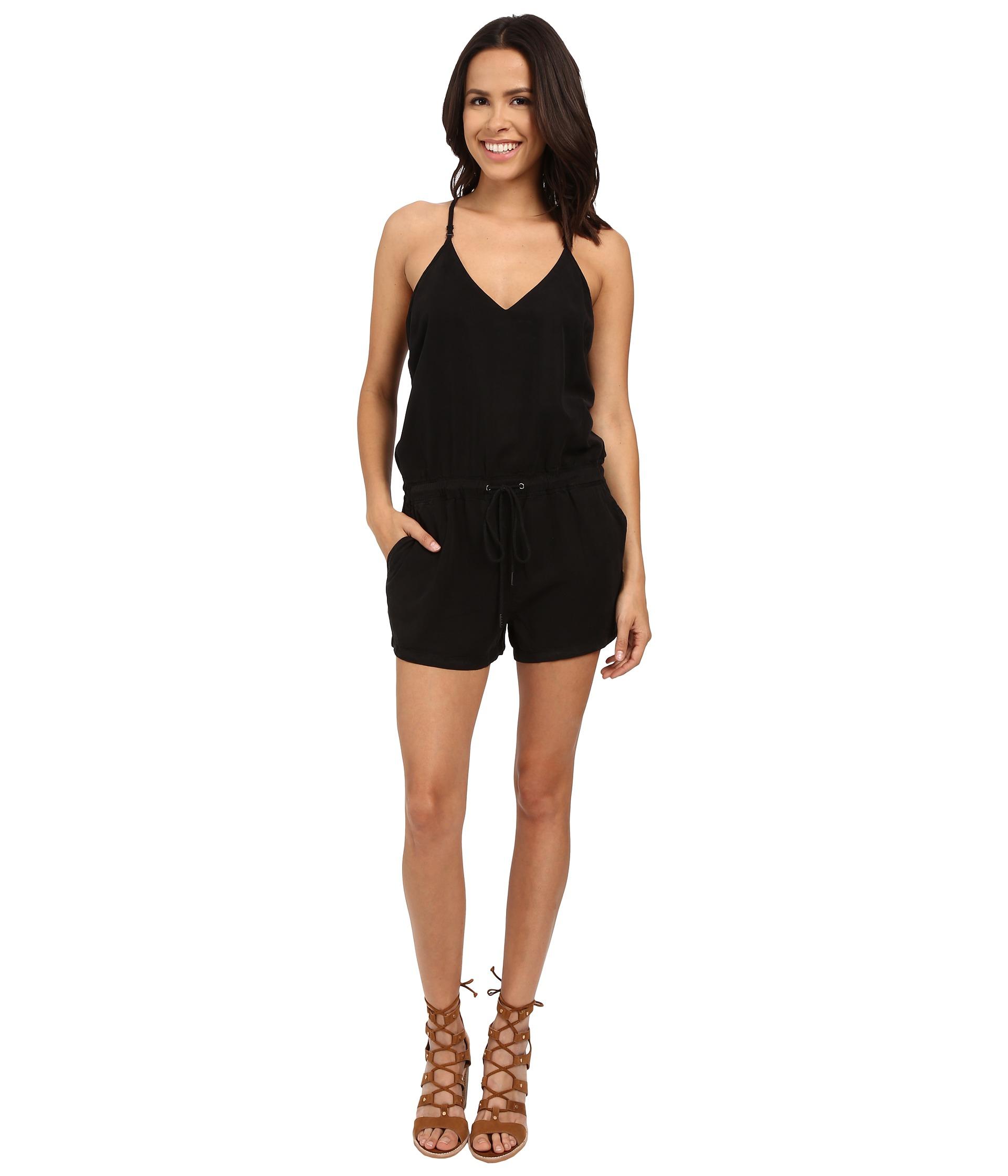 Lyst - Blank Short Romper in Black
