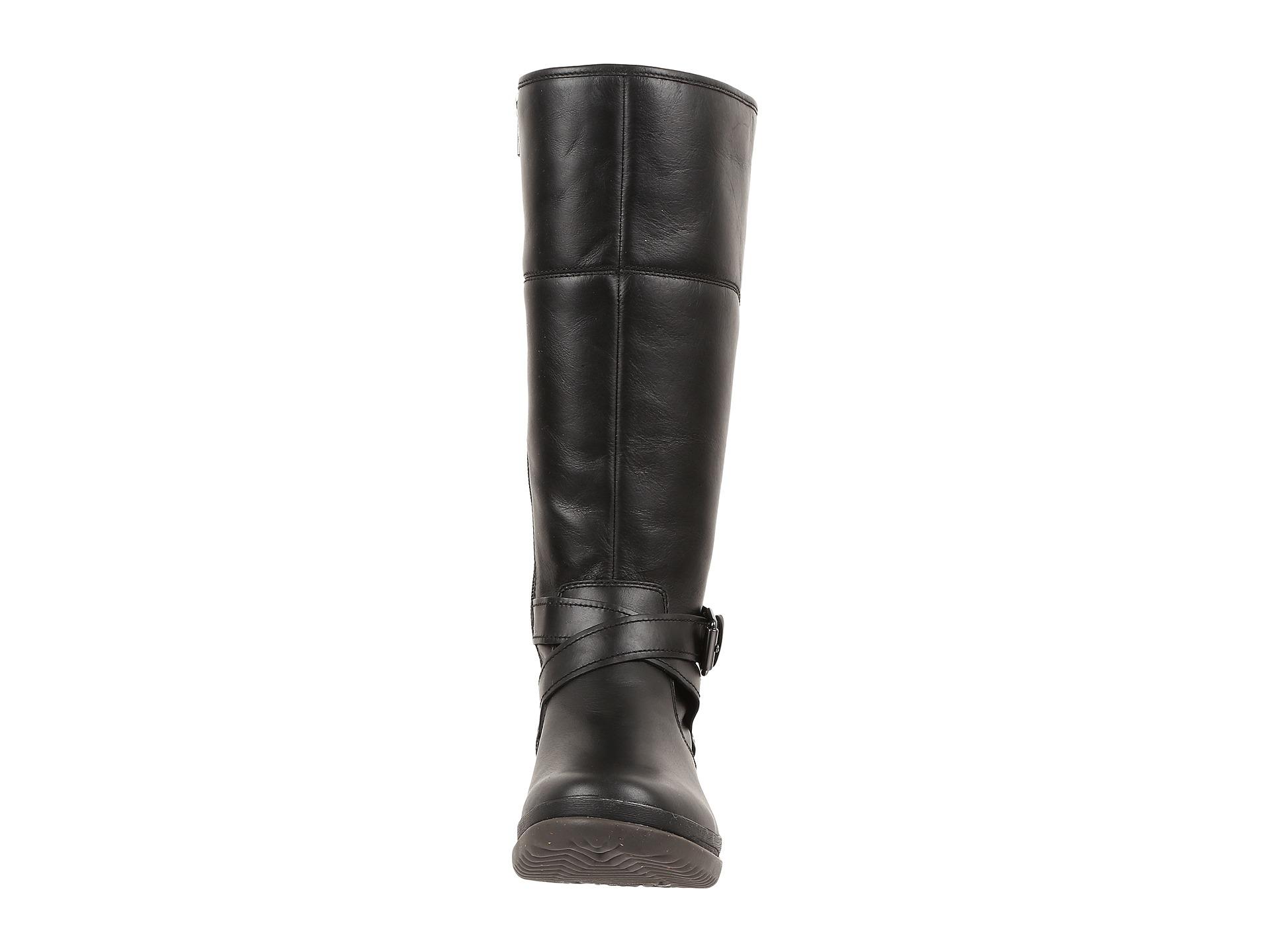 ff5a36c6e40 UGG Black Evanna Leather Riding Boots