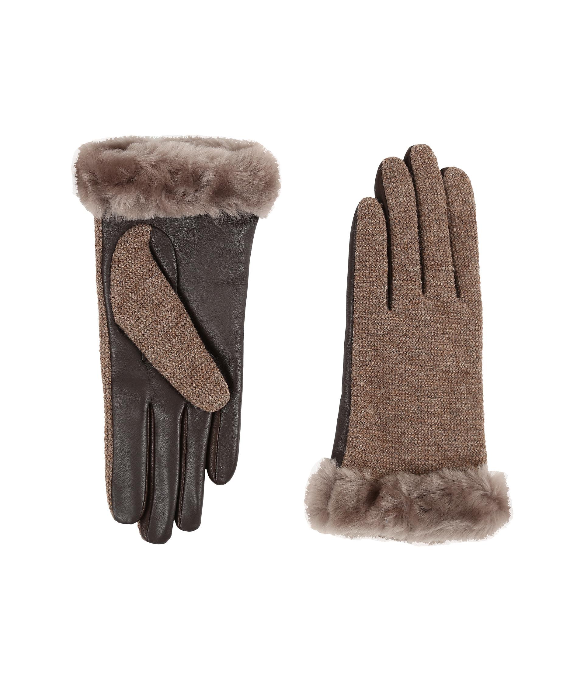 ca0a8c2ae92 Women's Brown Shorty Smart Fabric Gloves W/ Short Pile Trim