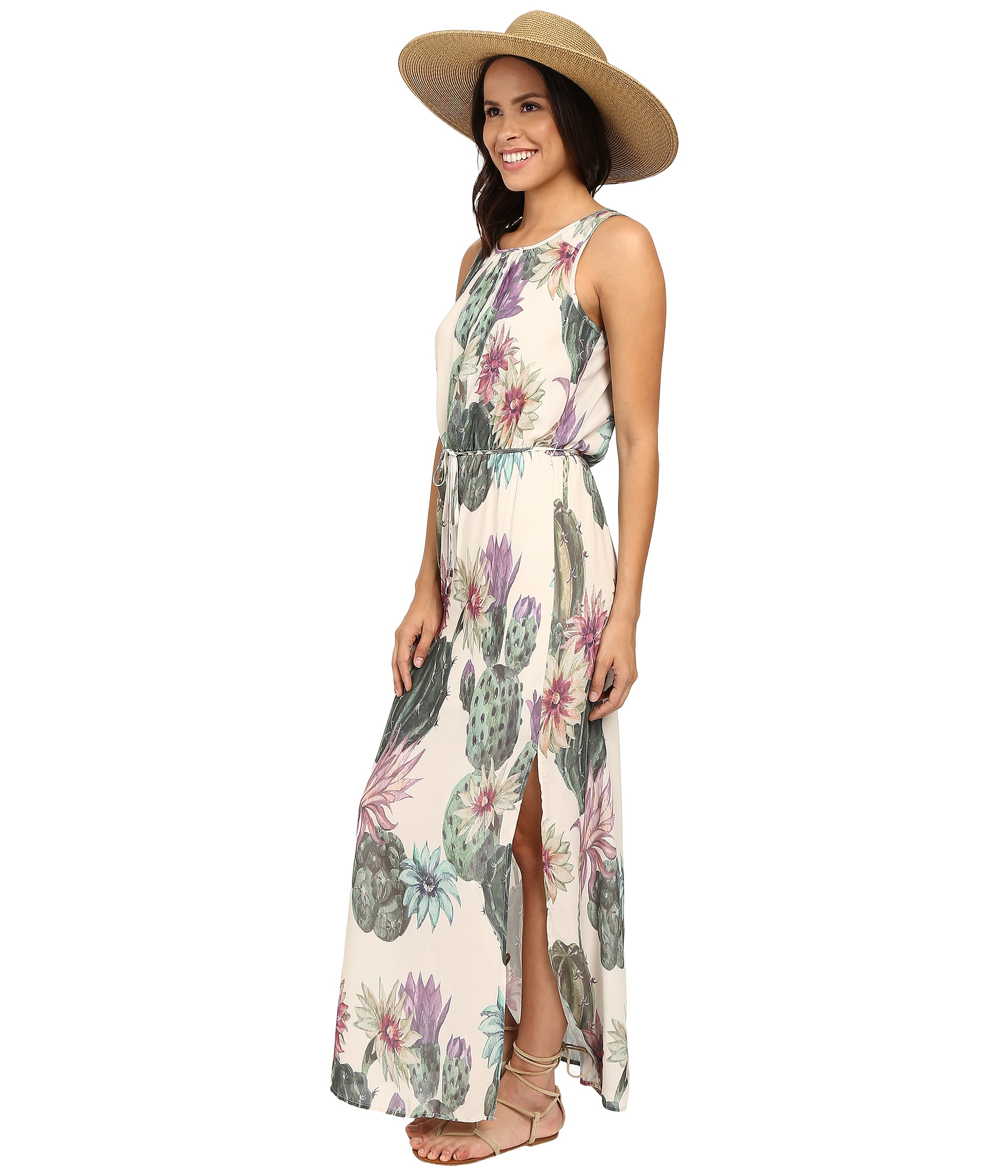 34e1f842d5 ONLY Ariel All Over Print Maxi Dress in White - Lyst