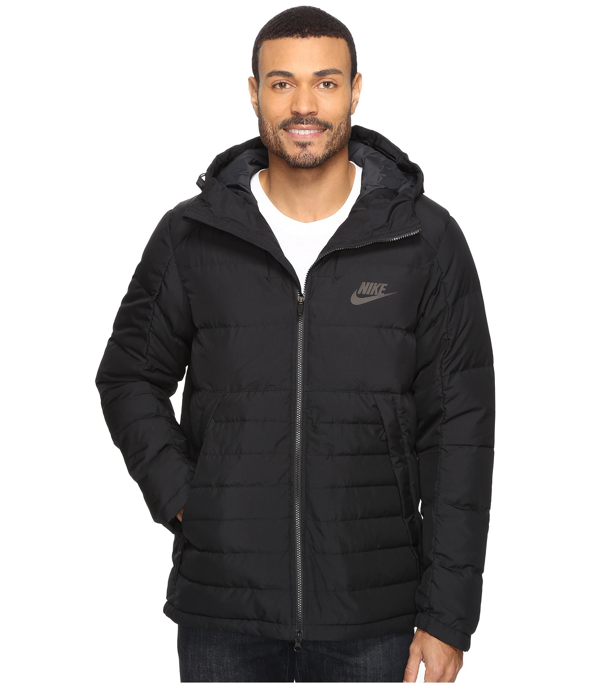 7e66fc74c2a0 Lyst - Nike Nsw Down Fill Hooded Jacket in Black for Men