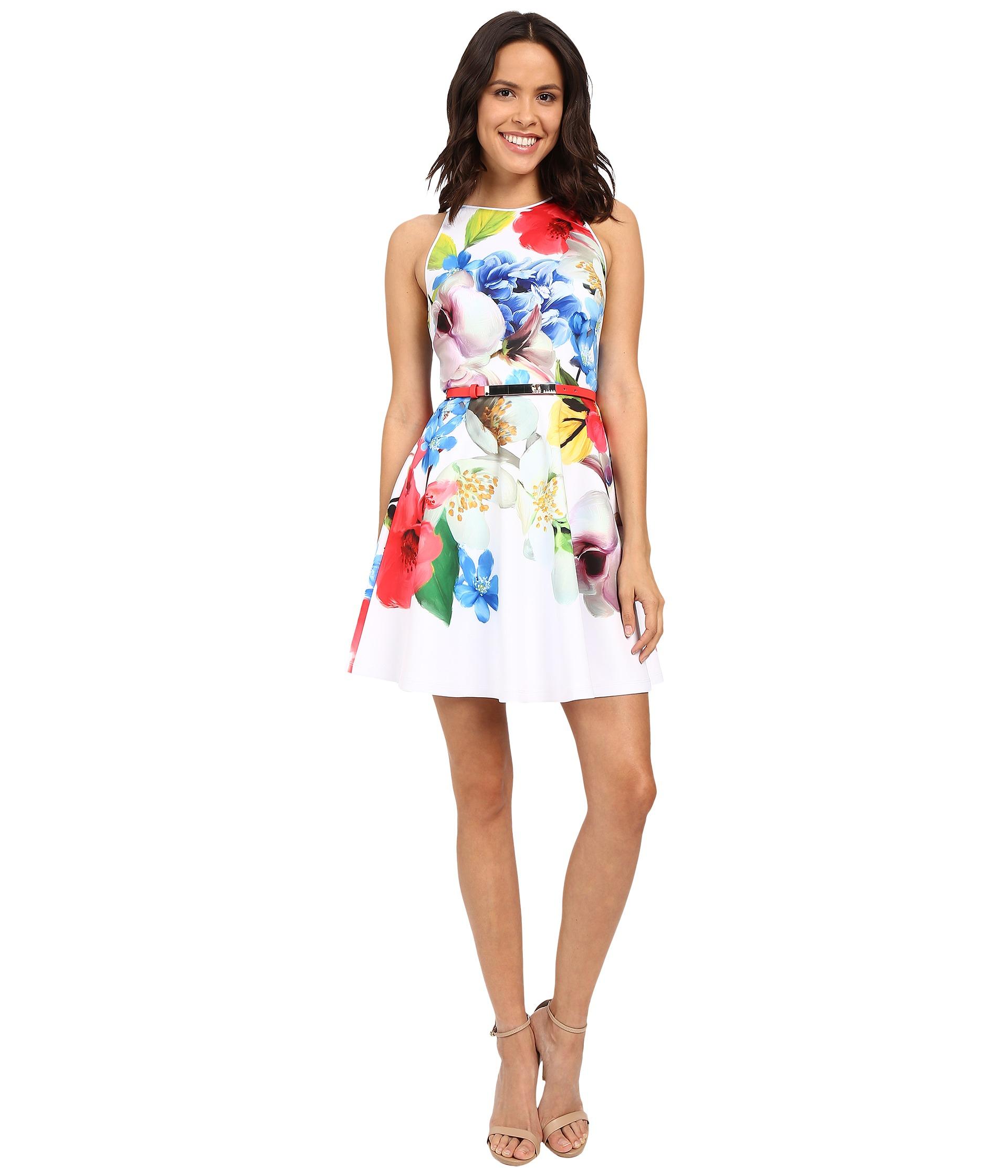 Ted Baker White Flower Dress Best Image Of Flower Mojoimage