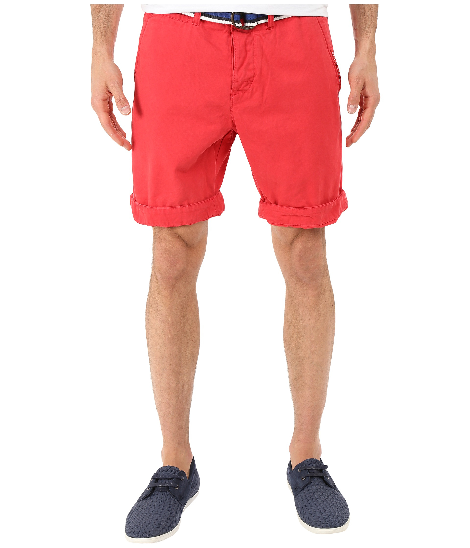 Superdry International Chino Shorts in Red for Men | Lyst