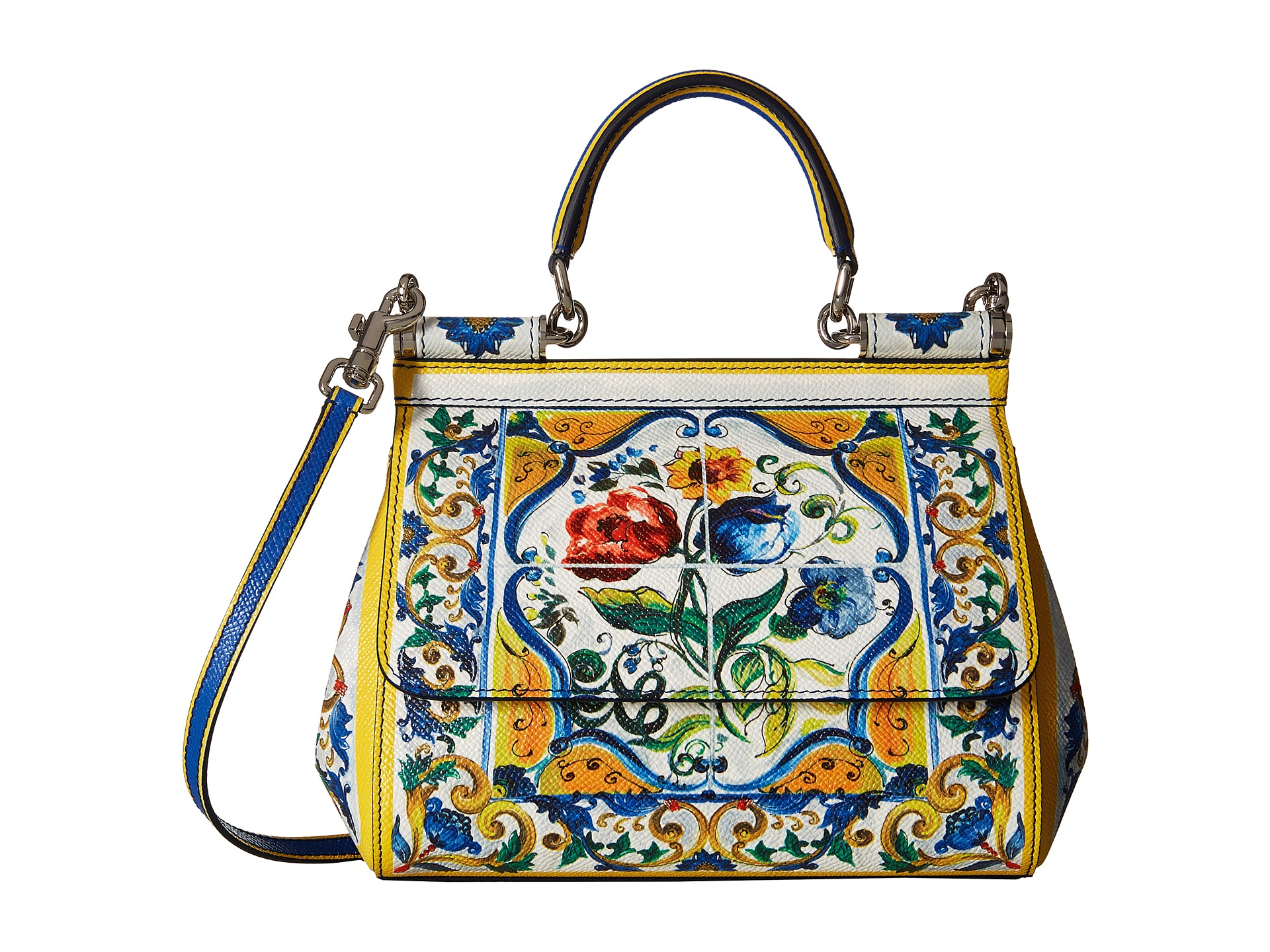 Lyst - Dolce   Gabbana Maiolica Ceramic Print Sicily Bag 4bb1bb413e11e
