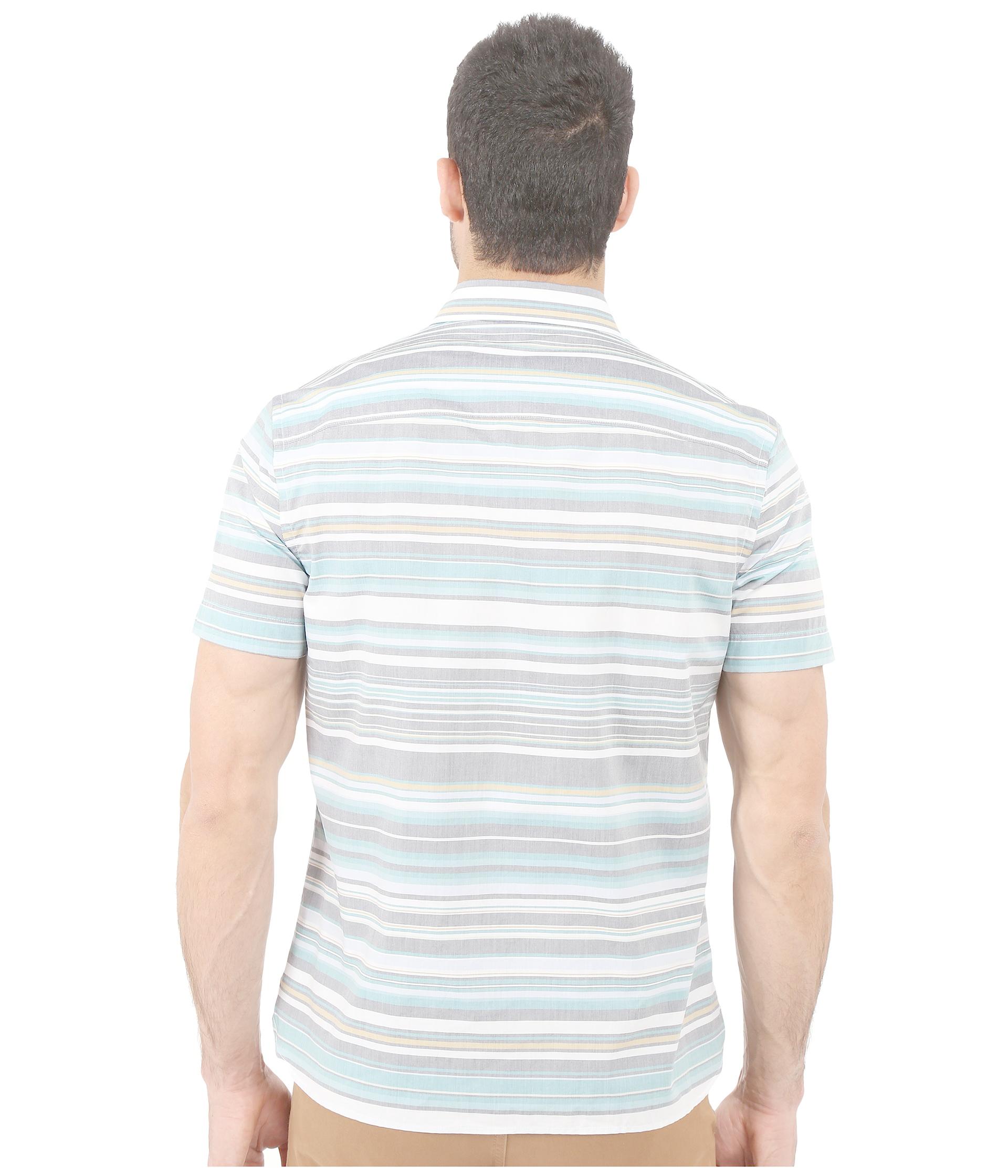Perry Ellis Regular Fit Multicolor Stripe Pattern Shirt In