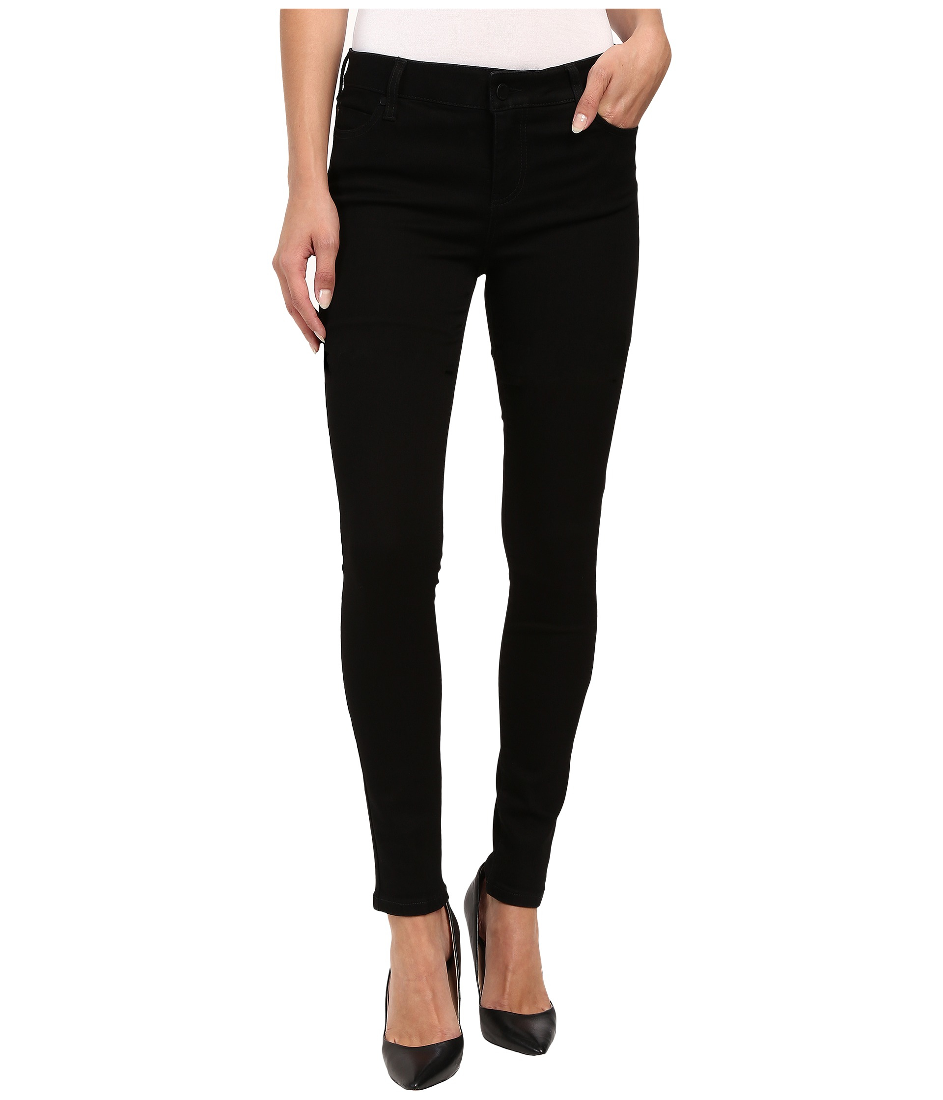 Liverpool jeans company Abby Skinny Jeans In Black Rinse in Black ...