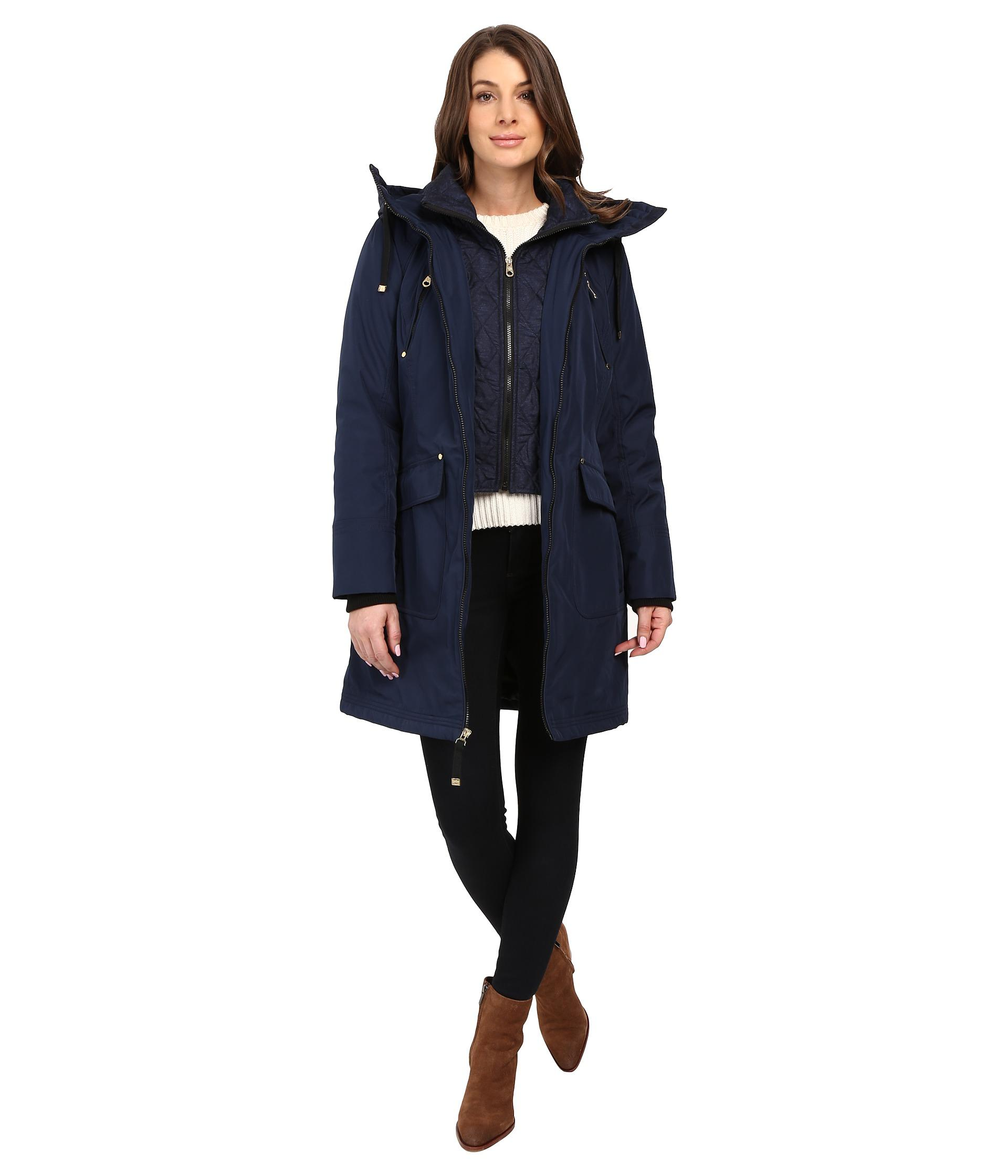 Jessica Simpson Quilted Fill Puffer With Hood And Fleece