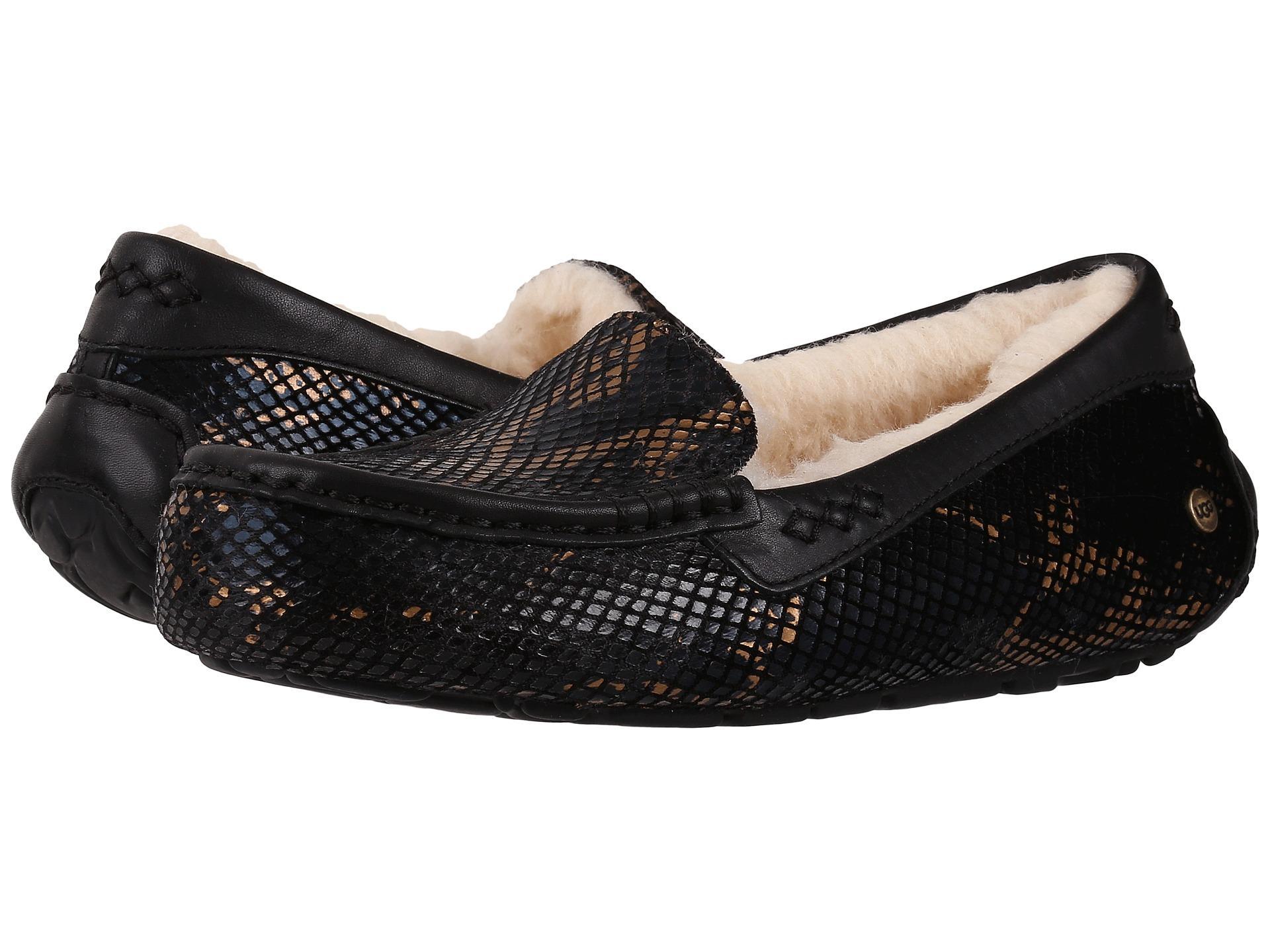 efd57e5b06a UGG Ansley Exotic Velvet in Black - Lyst