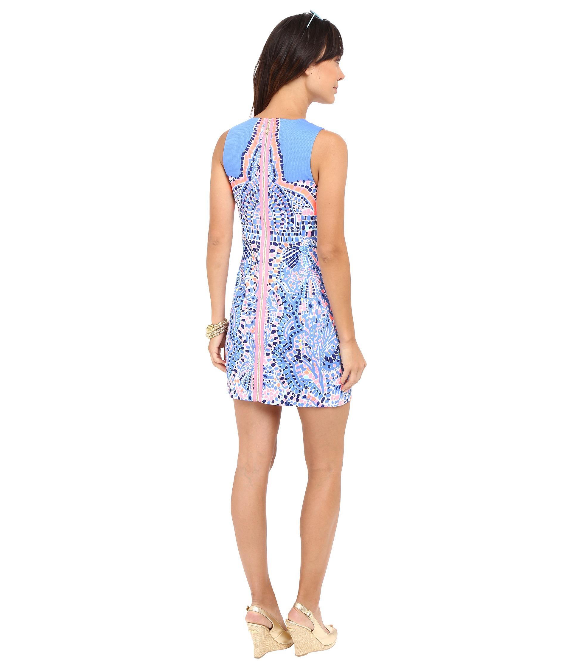 a07875b2f6bf3b Lilly Pulitzer Mila Shift Dress in Blue - Lyst