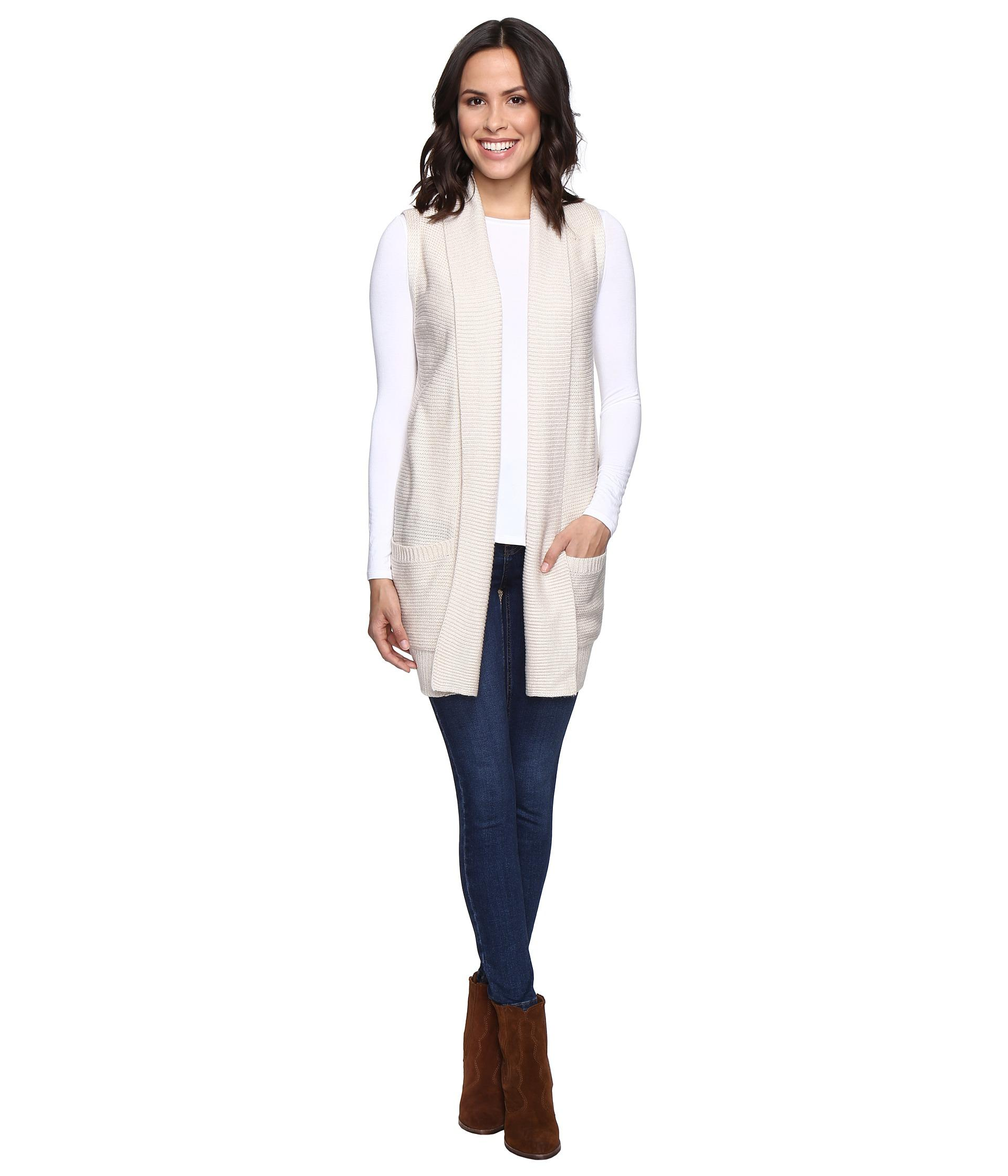 Brigitte bailey Alessia Open Sweater Vest With Pockets - Save 14 ...