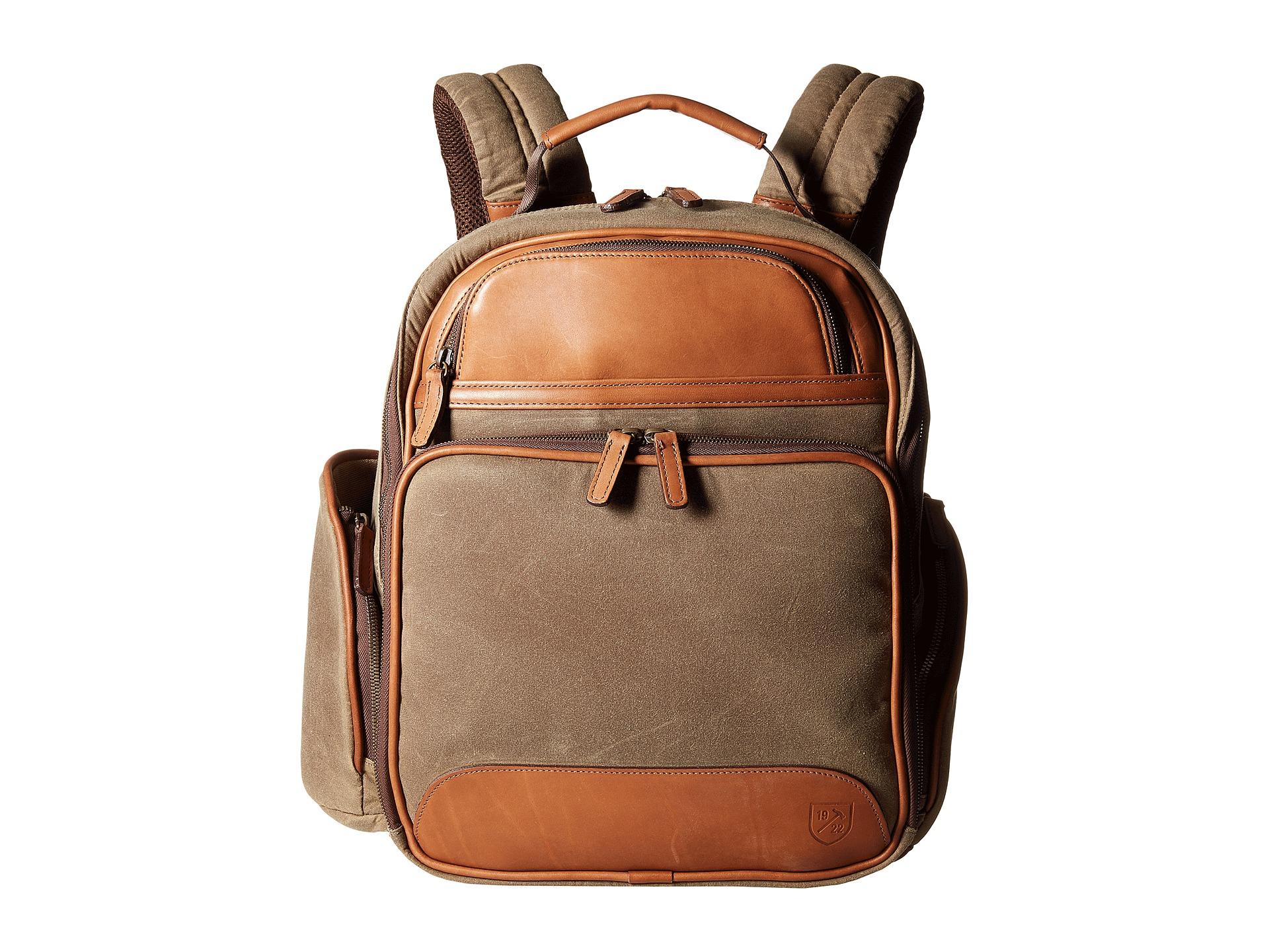 f293f57181 Lyst - Allen Edmonds Canvas leather Backpack in Brown for Men