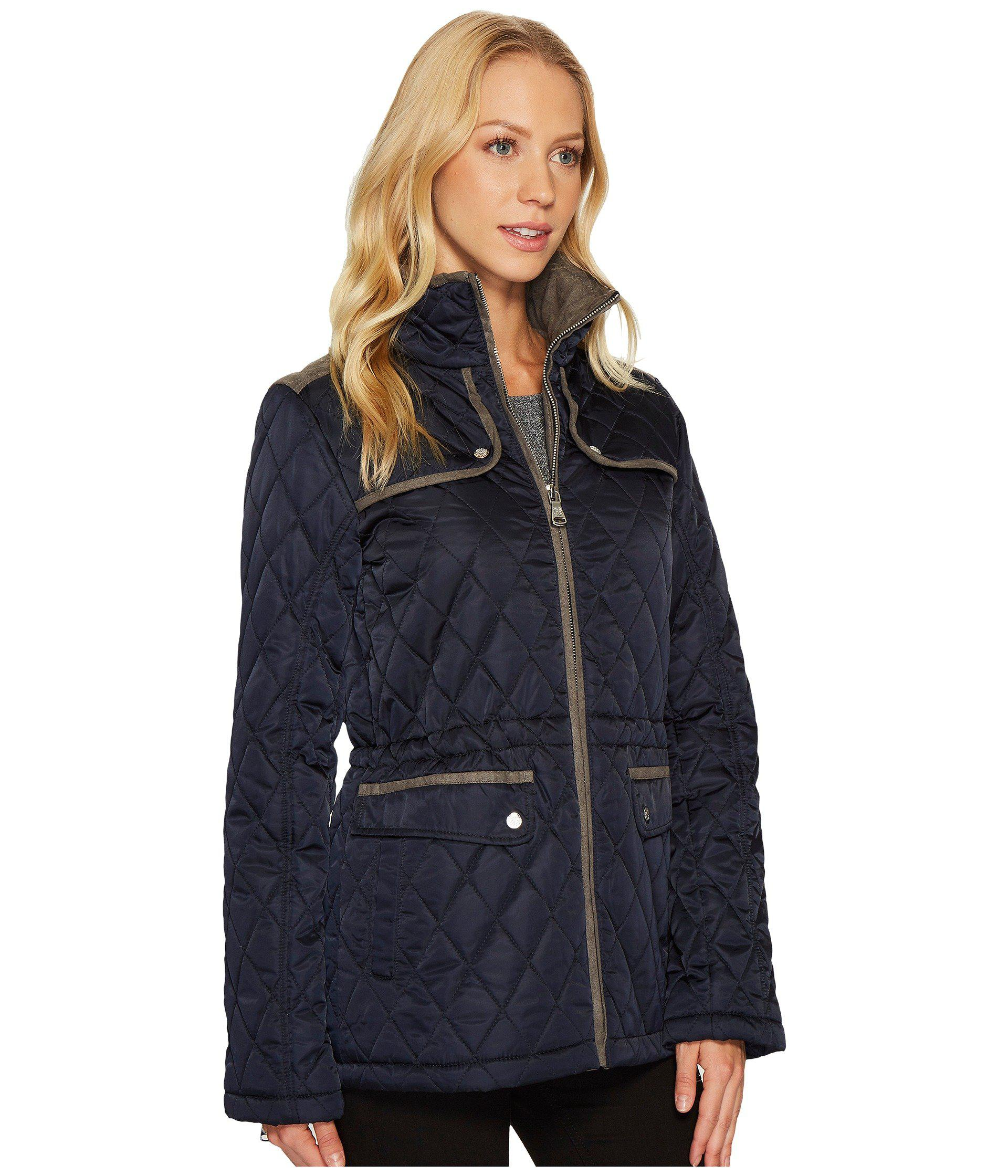 Ruby Rd Womens Open-Front Heavy Stretch Suede Jacket with Patch Pockets Faux Fur Coat