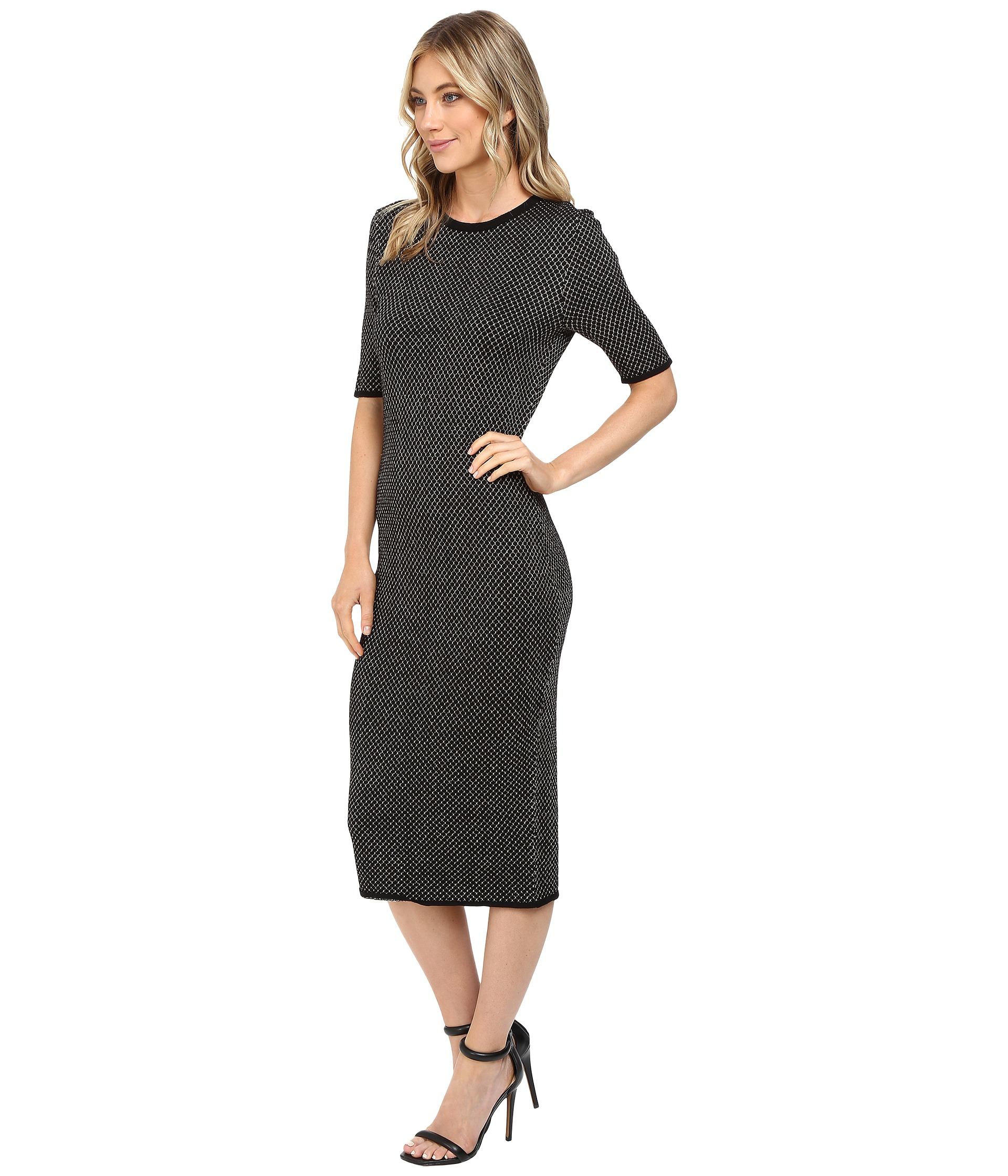 Jessica Simpson Sweater Knit Dress In Cream Black Lyst