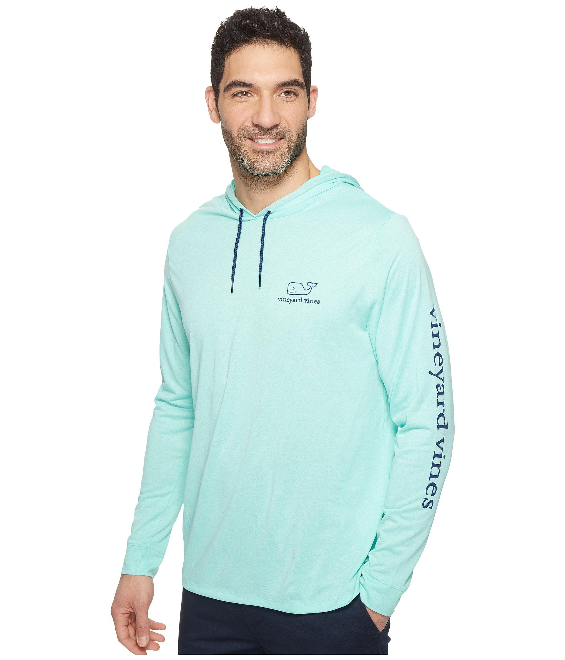 dc8008be467 Vineyard Vines Blue Long Sleeve Performance Heather Whale T-shirt for men