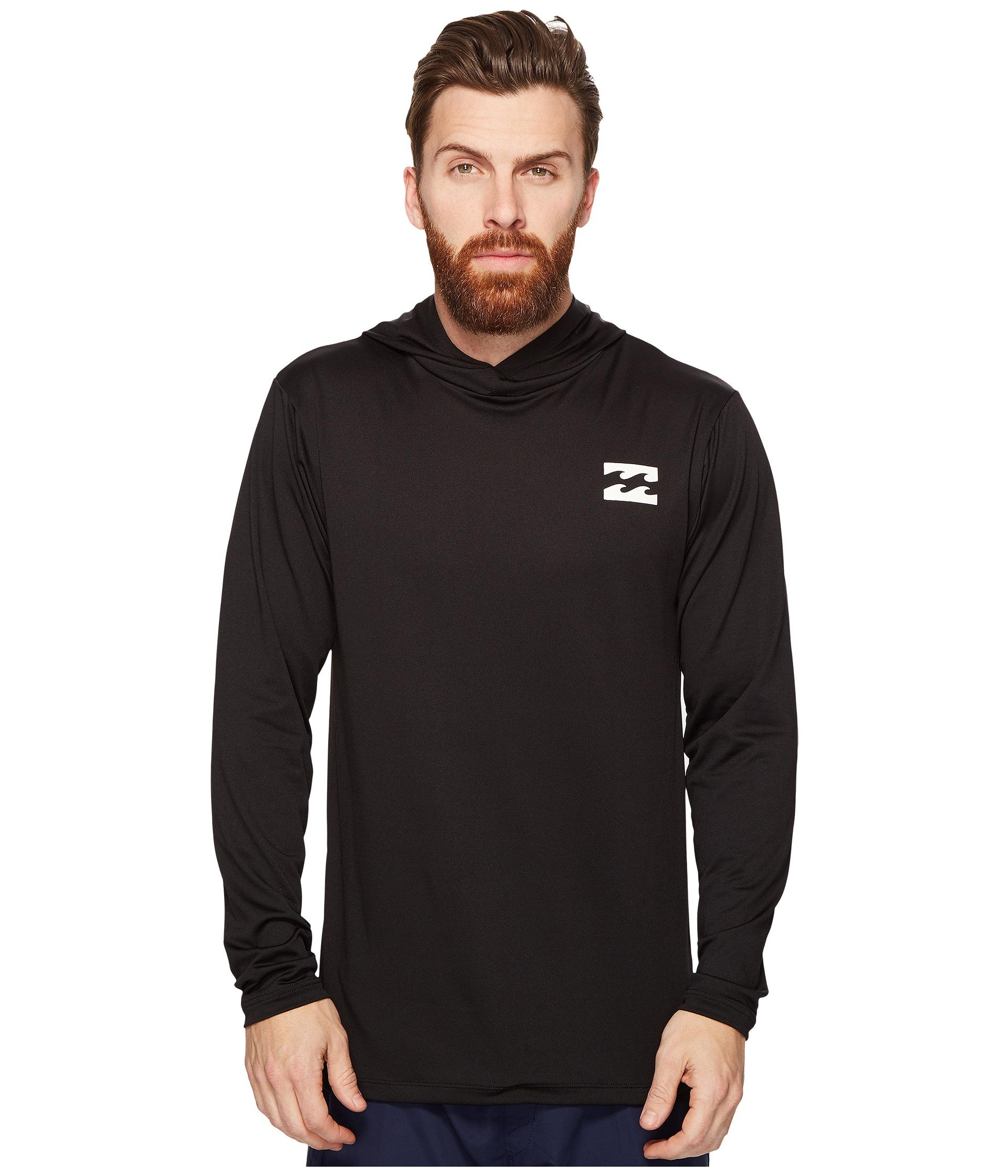 Billabong All Day Mesh Long Sleeve Hooded in Black for Men - Save ...