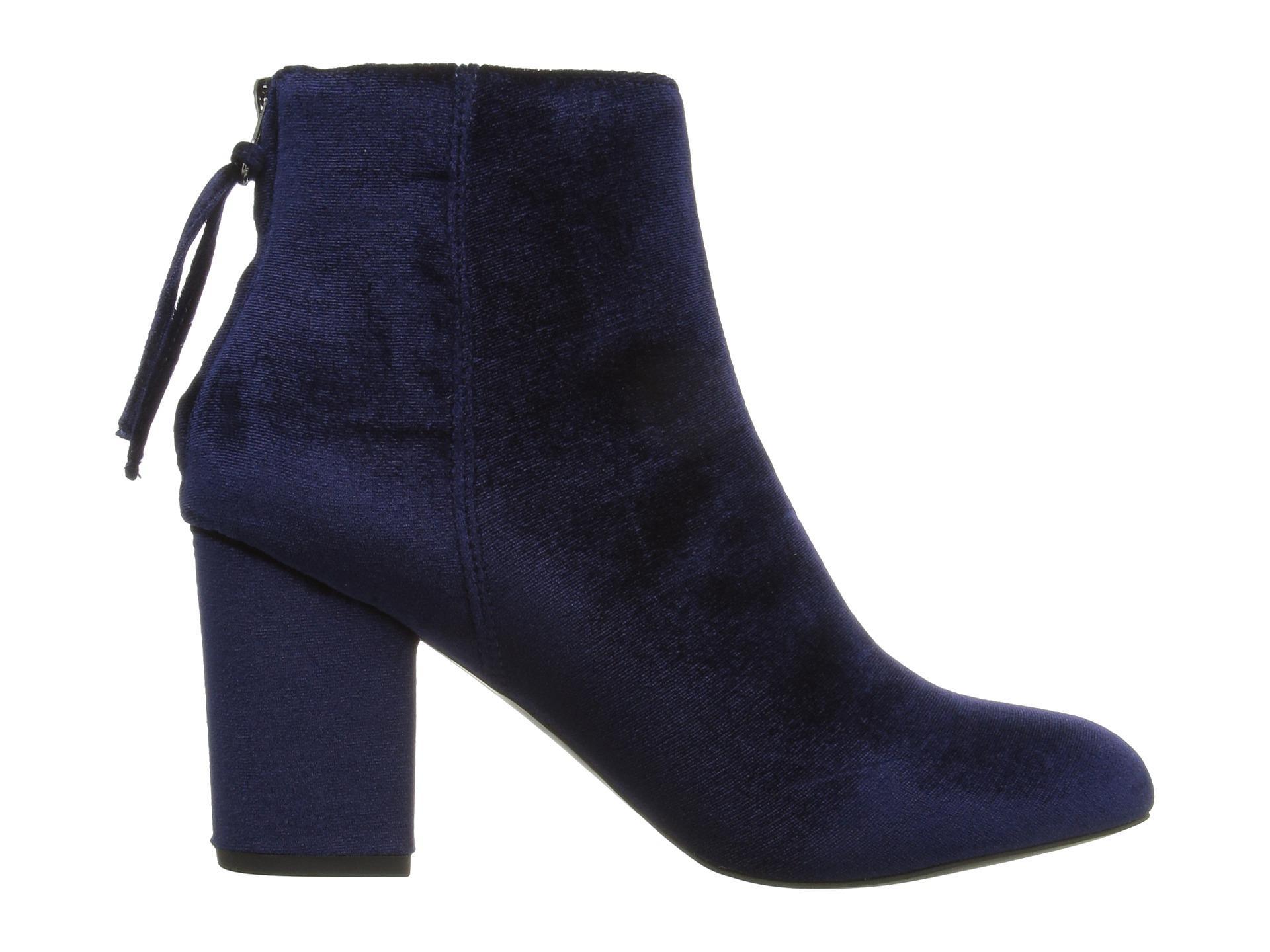 Steve Madden Cynthia Velvet Ankle Boots In Blue Lyst