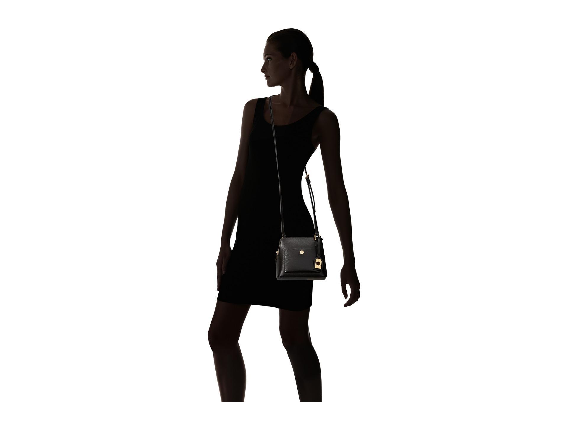 eeb06327fb Lyst - Lauren by Ralph Lauren Newbury Bailey Dome Crossbody in Black