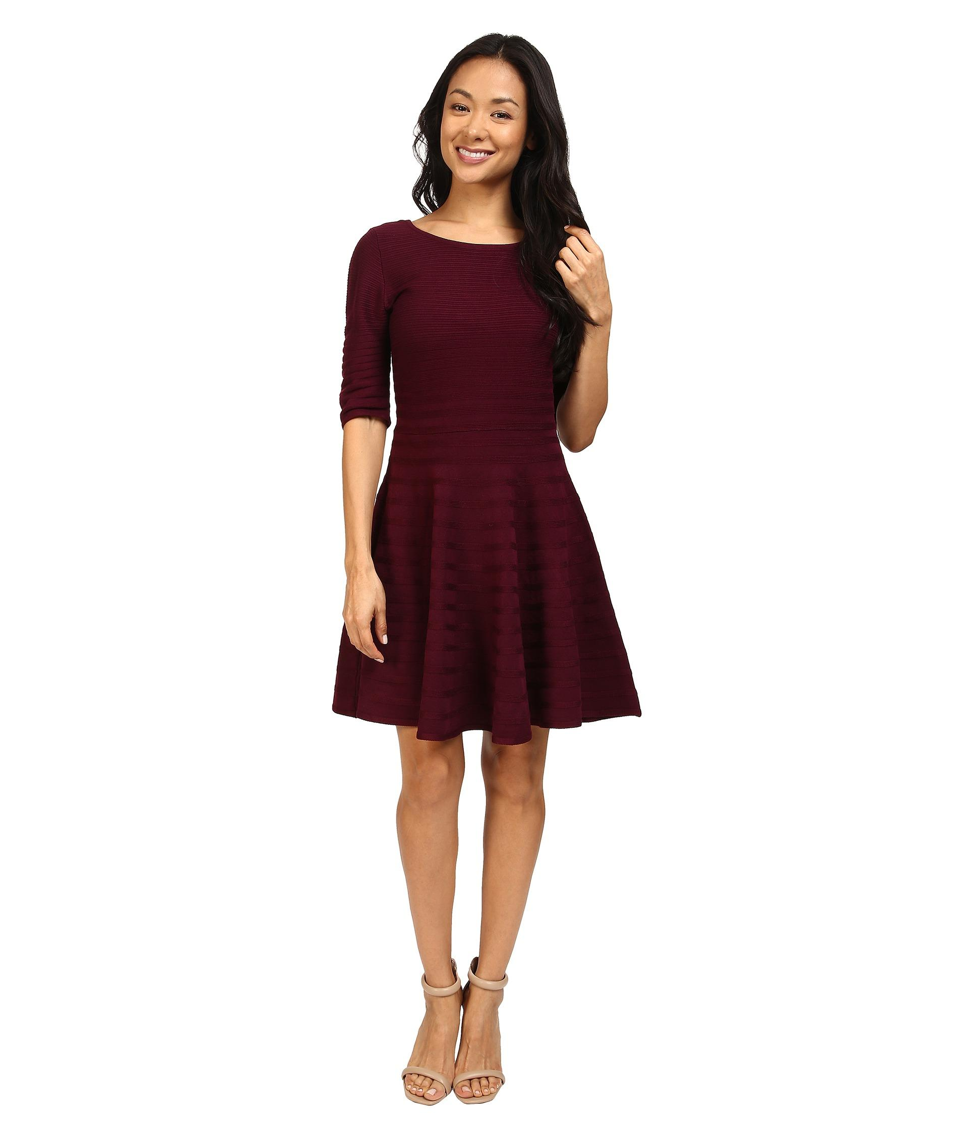 Ivanka Trump Fit And Flare Sweater Dress Lyst
