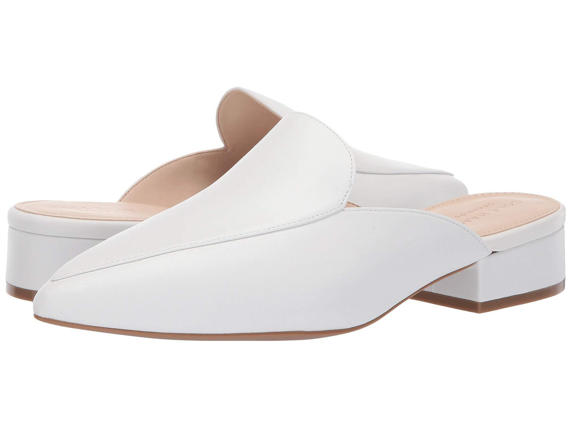 cba8a81bdfd Lyst - Cole Haan Piper Mule (black Leather) Women s Shoes in White ...