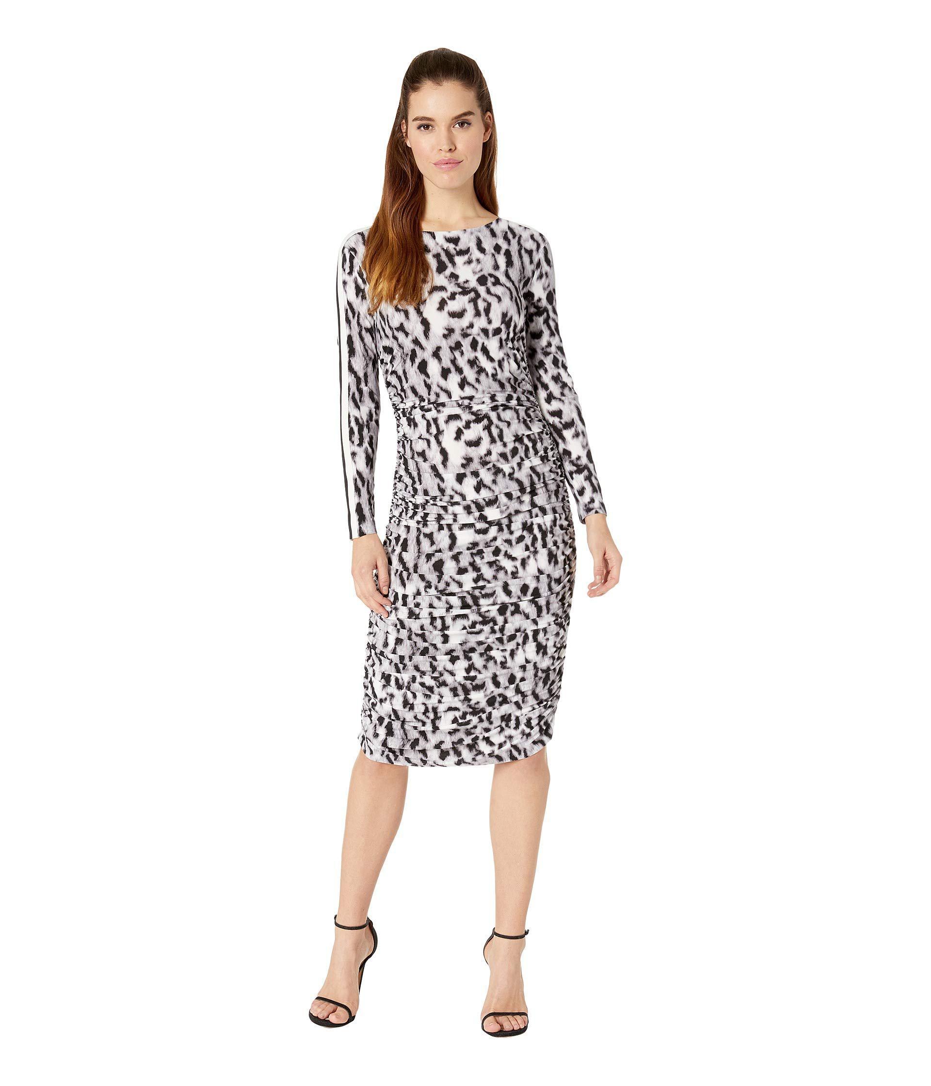 61b5035ec8 Lyst - Kamalikulture Side Stripe Long Sleeve Shirred Waist Dress ...