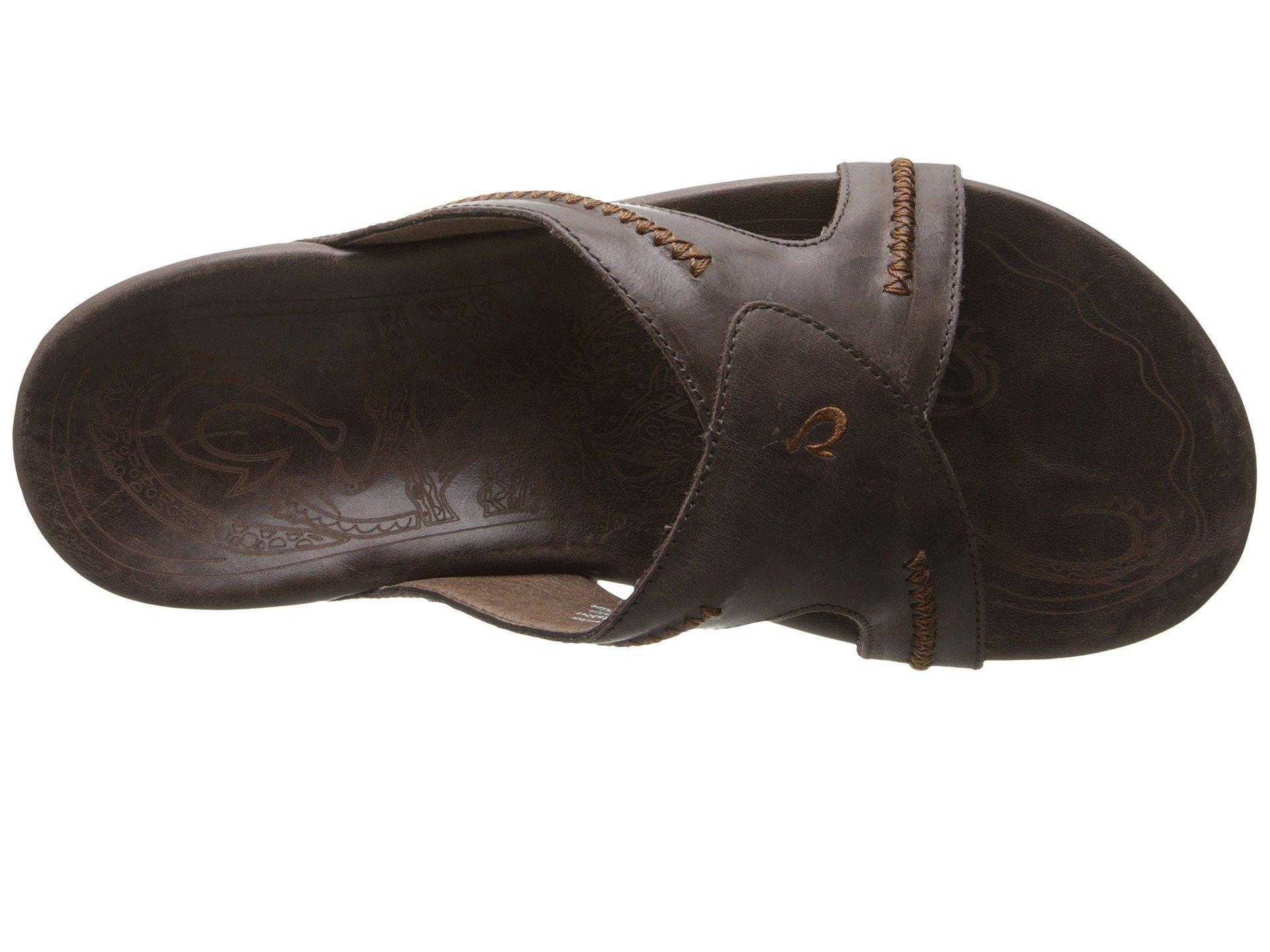 be59a8a985f Olukai - Brown Mea Ola Slide (dark Java dark Java) Men s Sandals for. View  fullscreen