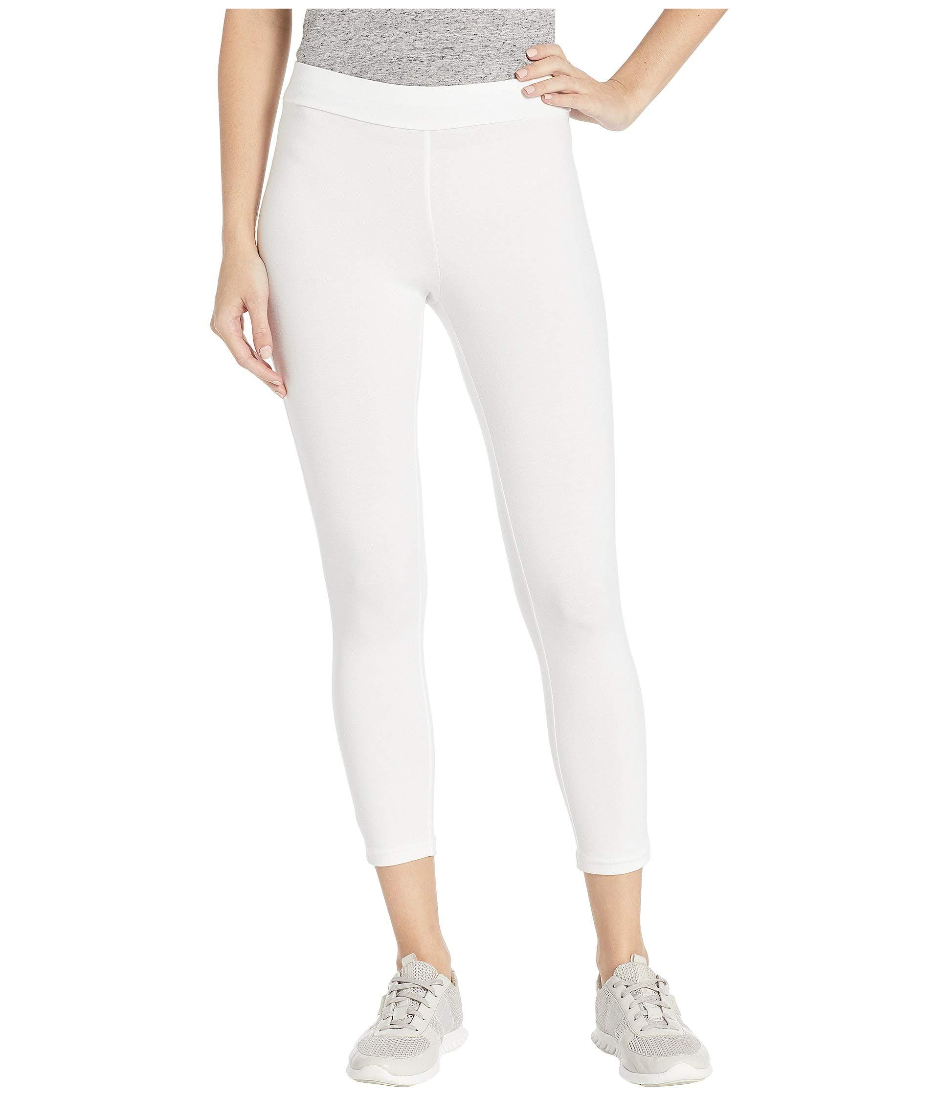 648fe3c9b01 Hue. White Wide Waistband Blackout Cotton Capri Leggings (black) Women s  Casual Pants