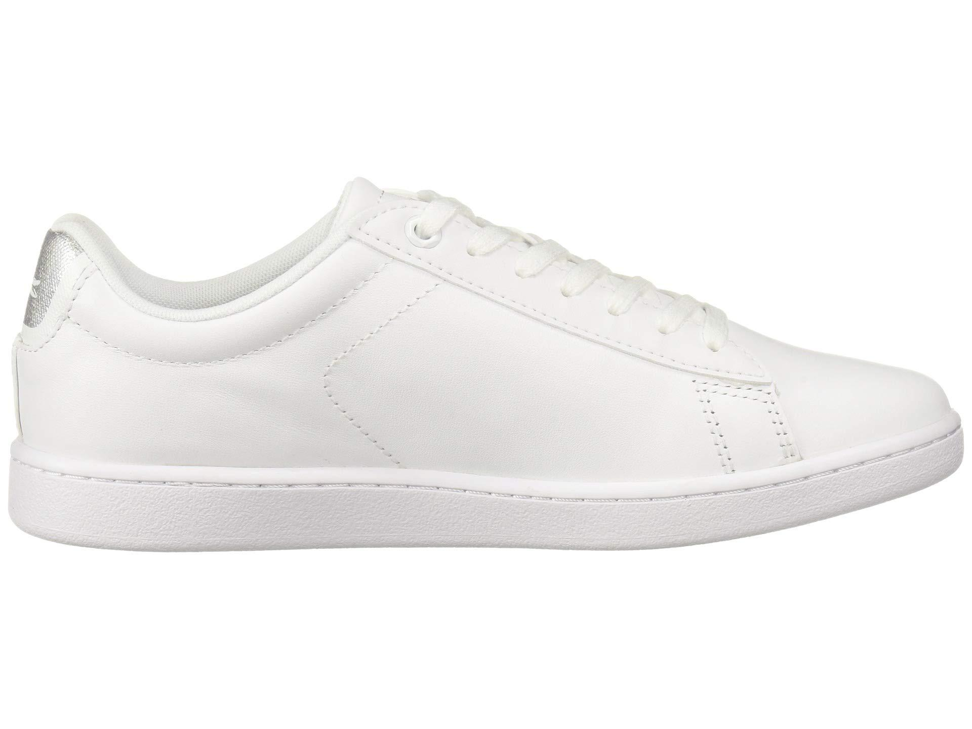lacoste silver shoes