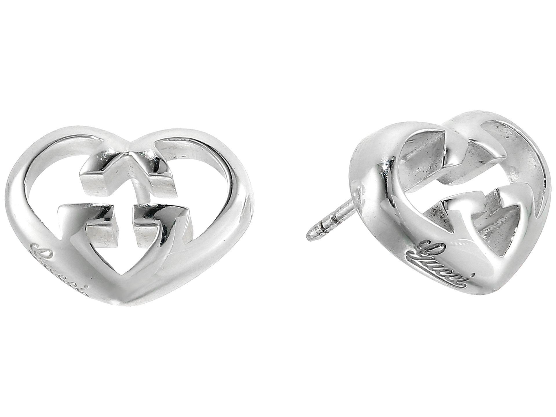 673e1a4d5fa Lyst - Gucci Love Britt Heart Earrings in Metallic