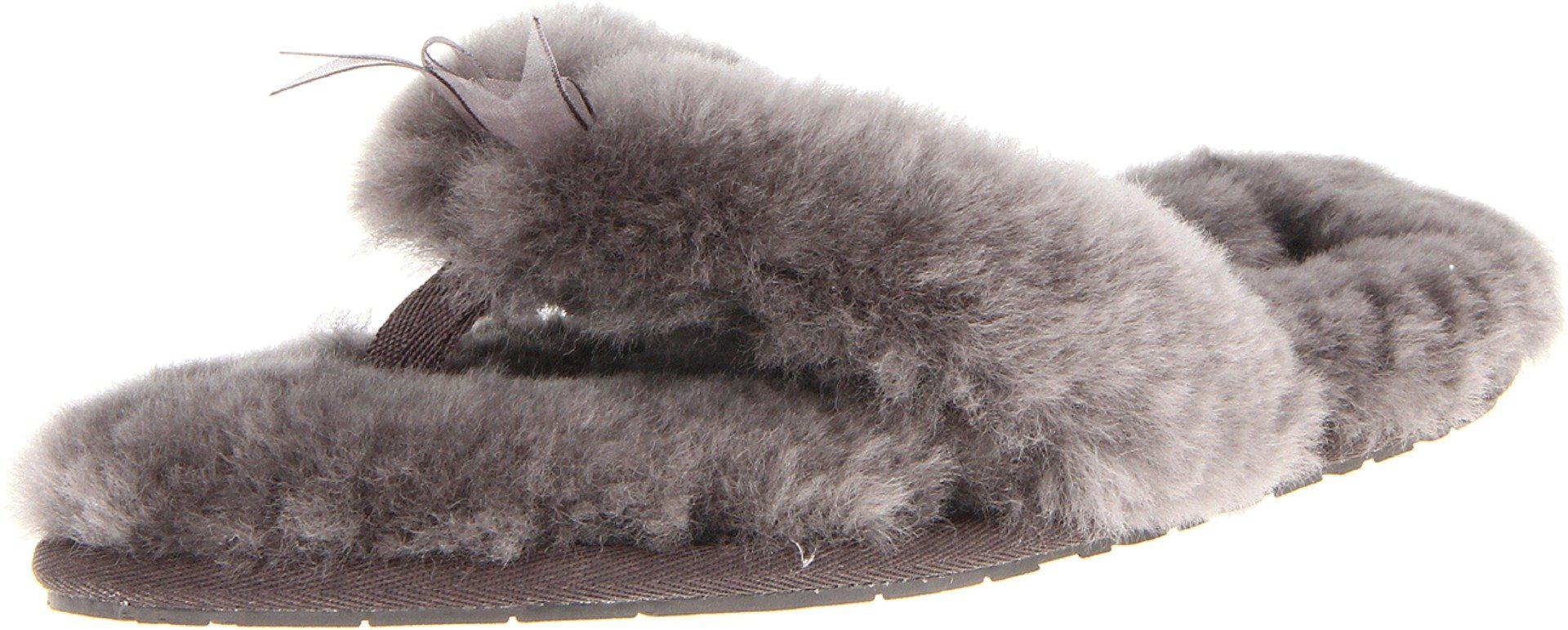 94d1eca499d Women's Gray Fluff Flip Flop Ii