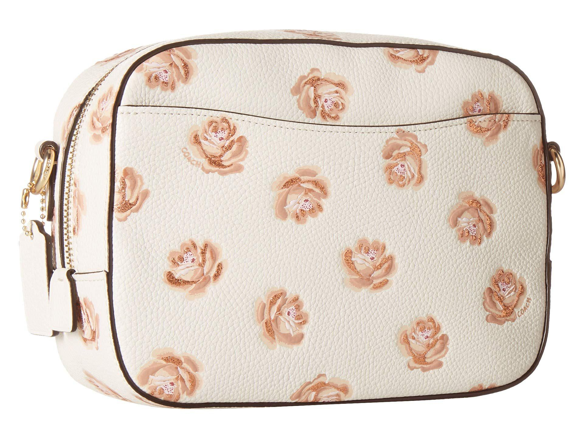 8c798f6298 Women's Camera Bag In Floral Printed Leather (sv/sky) Bags