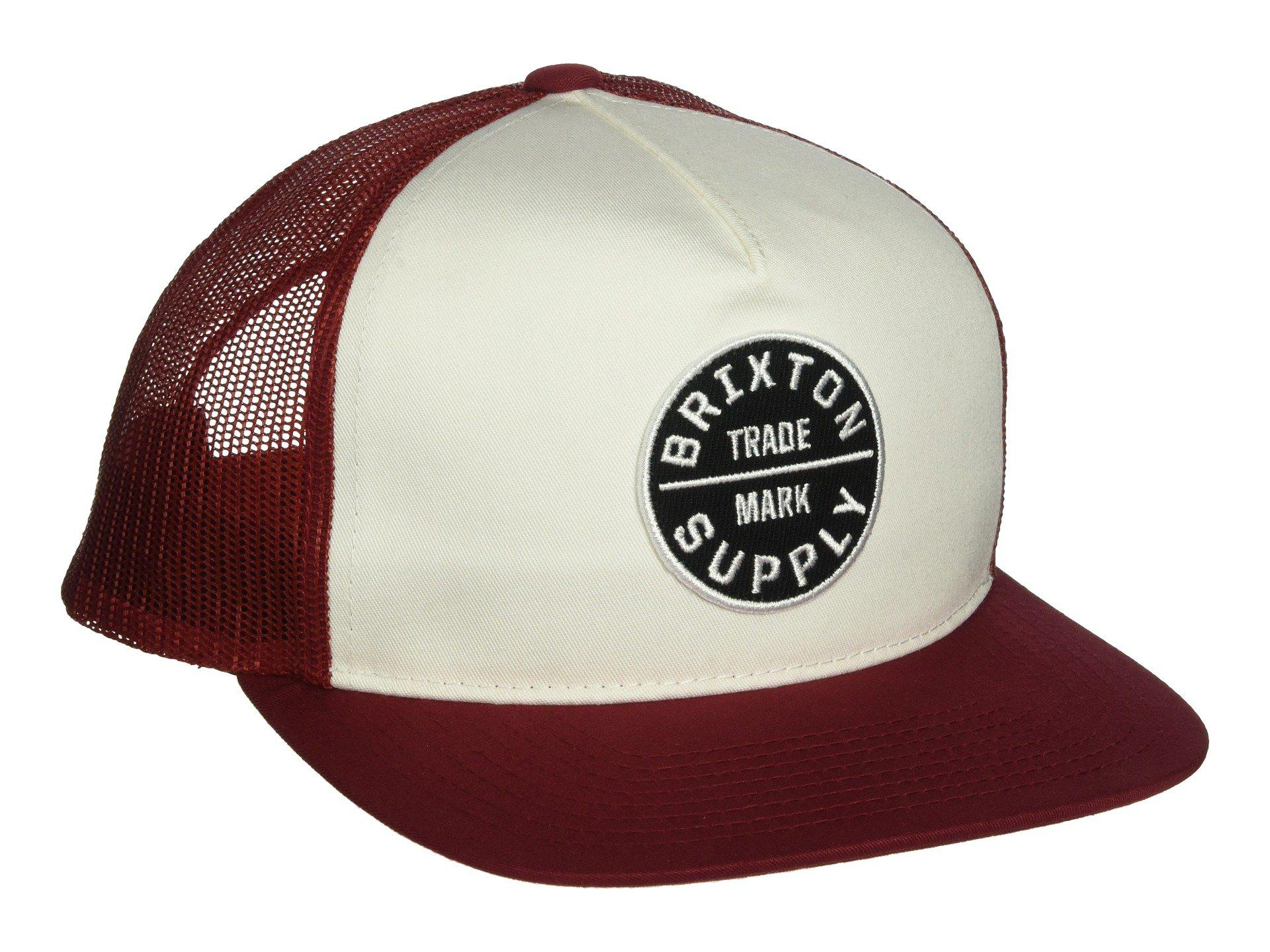 9bf52d69bf5 Lyst - Brixton Oath Iii Mesh Cap (burgundy white) Caps in Red for Men