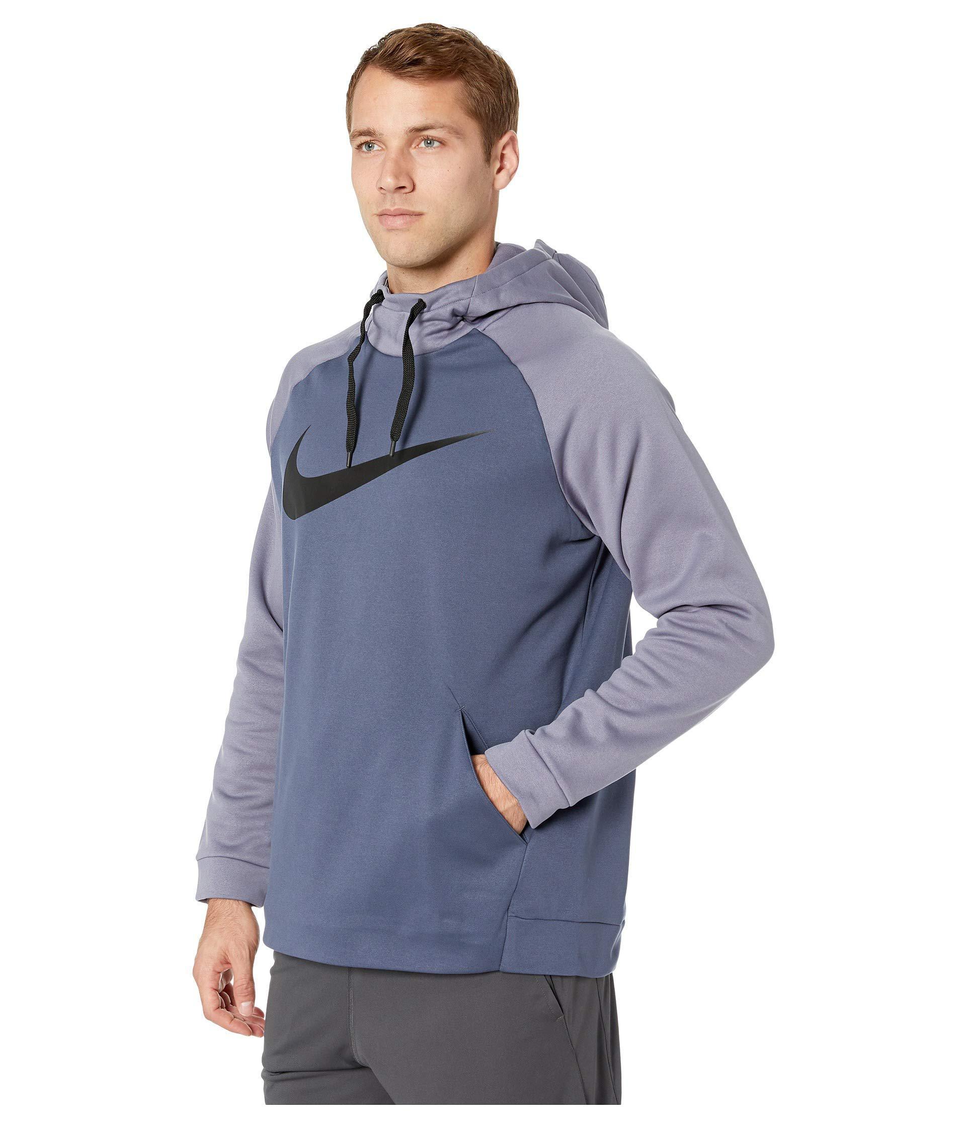 4123d2ac13 Lyst - Nike Thermal Hoodie Swoosh Essential in Blue for Men