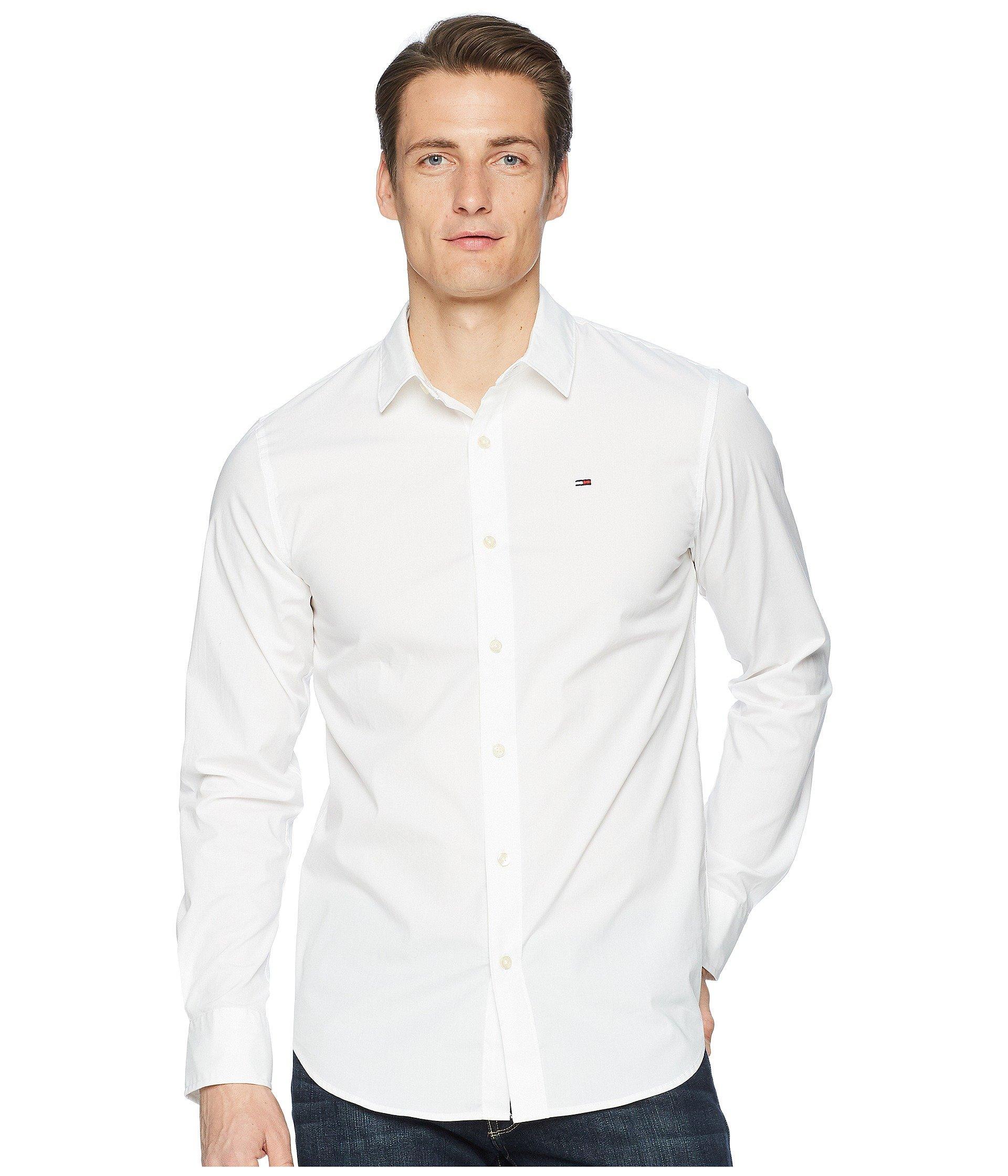 d58f8f47 Tommy Hilfiger Stretch Long Sleeve Button Down Shirt (black Iris ...