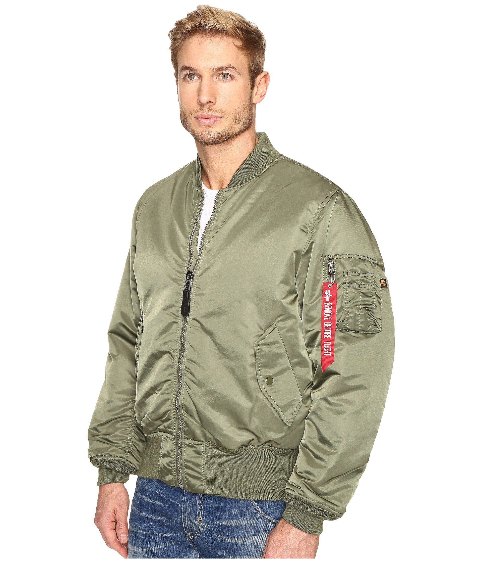 en stock comprar barato venta de descuento Ma-1 Blood Chit Flight Jacket (sage Green) Men's Coat